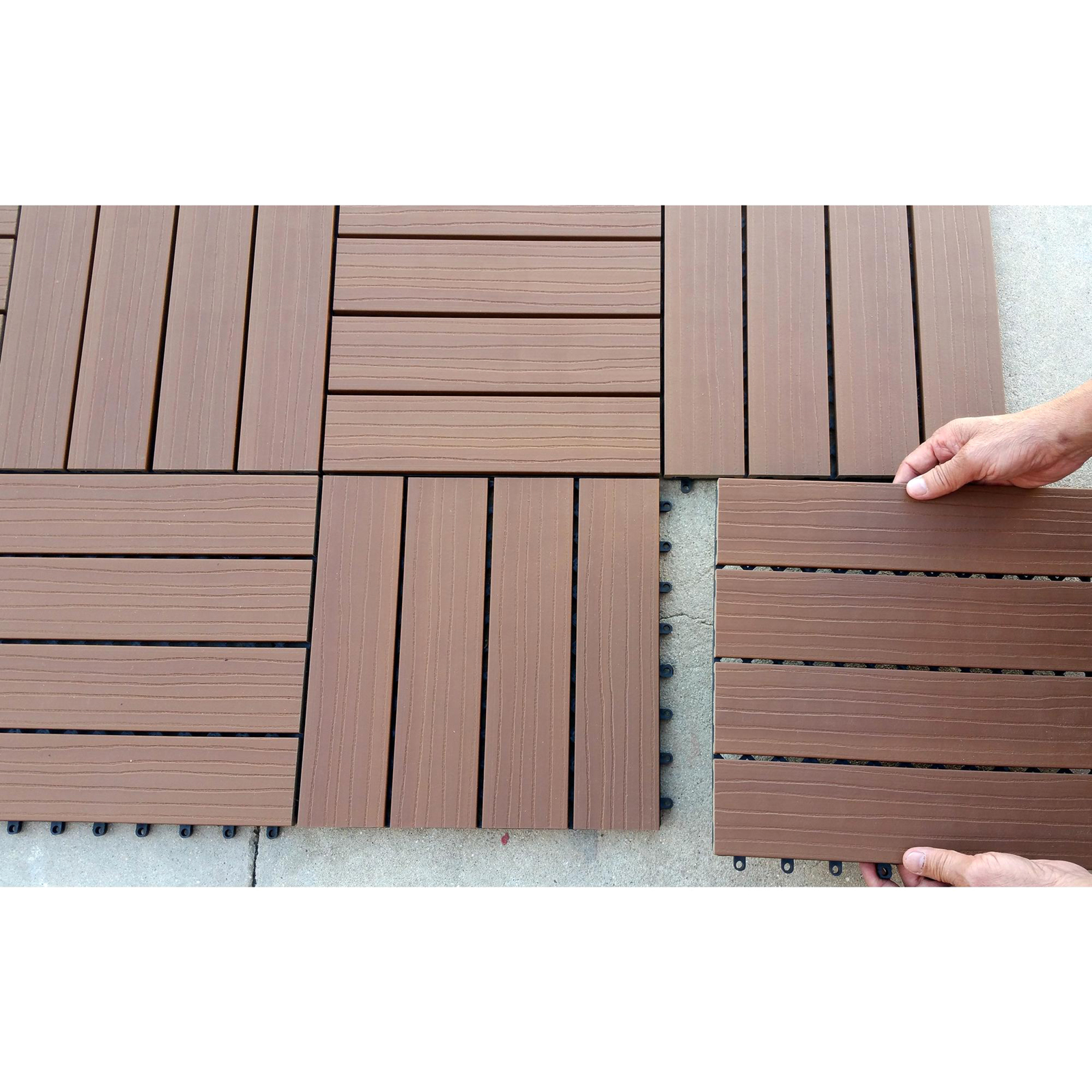 Composite Deck Tiles Vifah Composite Interlocking Deck Tiles Sears Marketplace