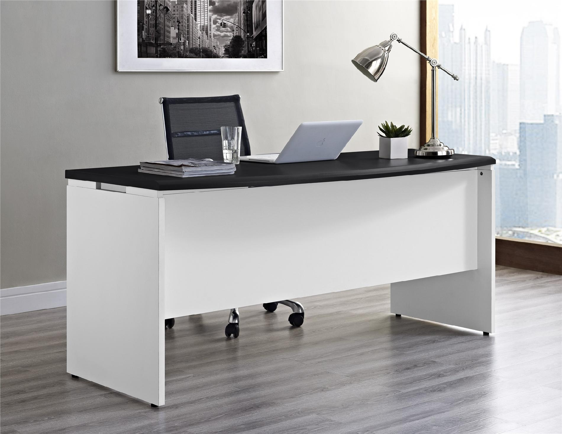 White Office Desk Dorel Pursuit White And Gray Executive Office Desk