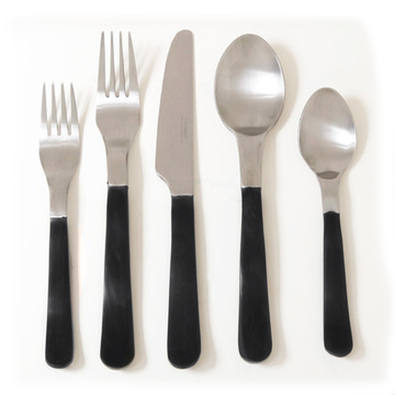 Contemporary Stainless Steel Flatware Gibson Luxton 20 Piece Stainless Steel Flatware Set
