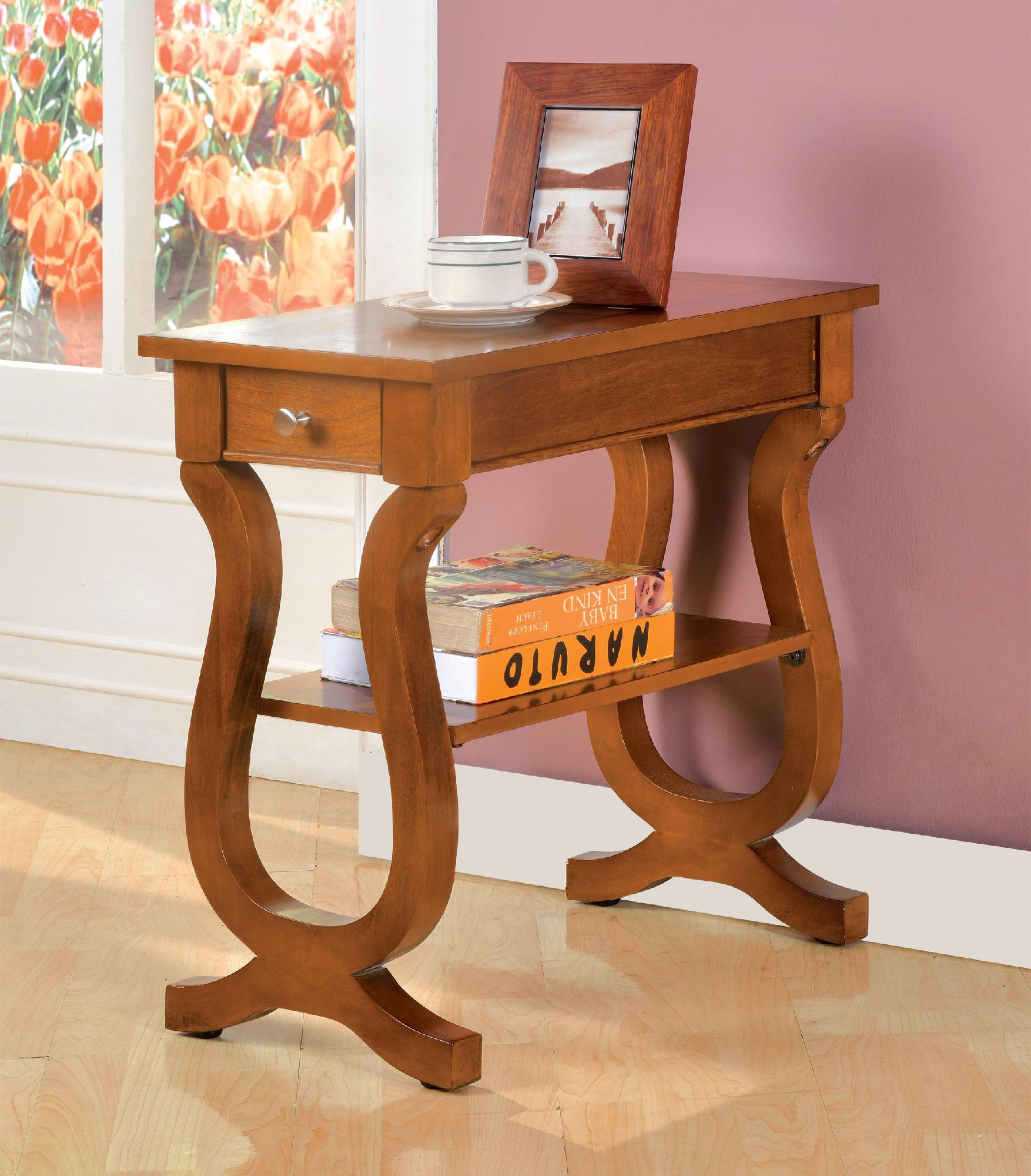 Oak Side Table With Drawer Furniture Of America Rectangular Tarska Antique Oak Side