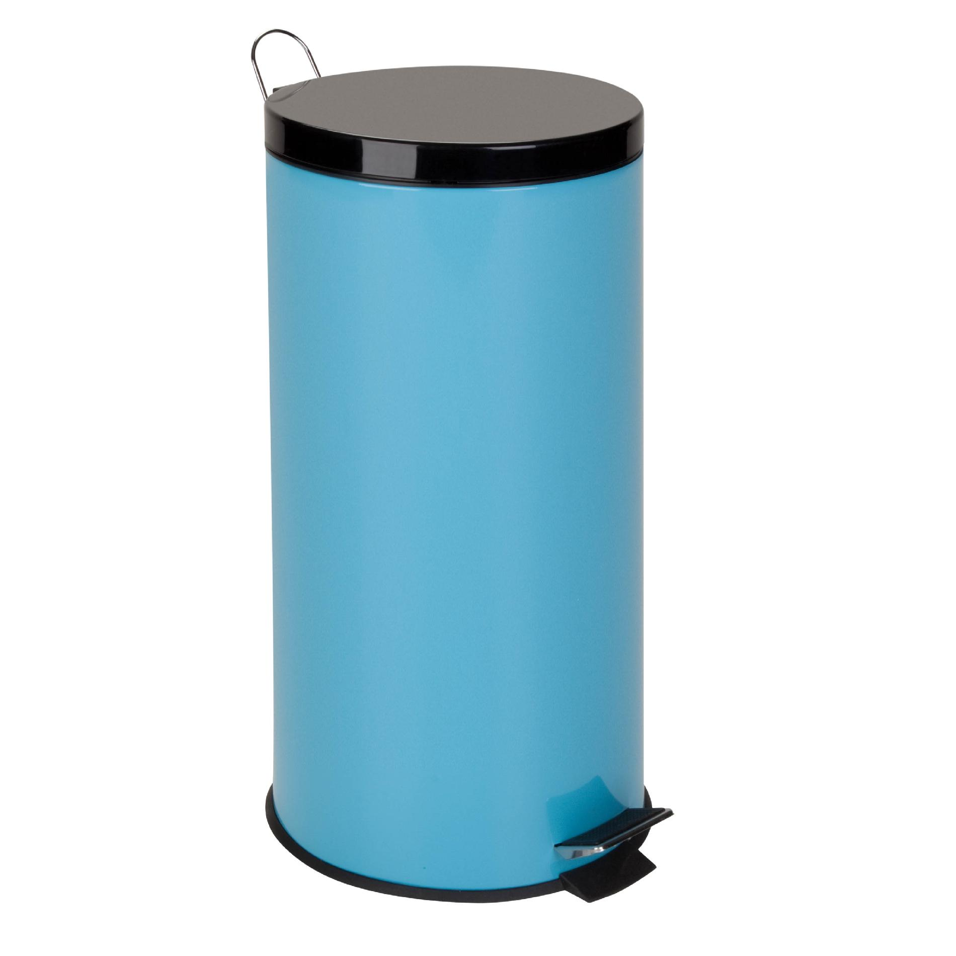 Colored Kitchen Trash Cans Honey Can Do 30l Metal Step Trash Can Blue Home