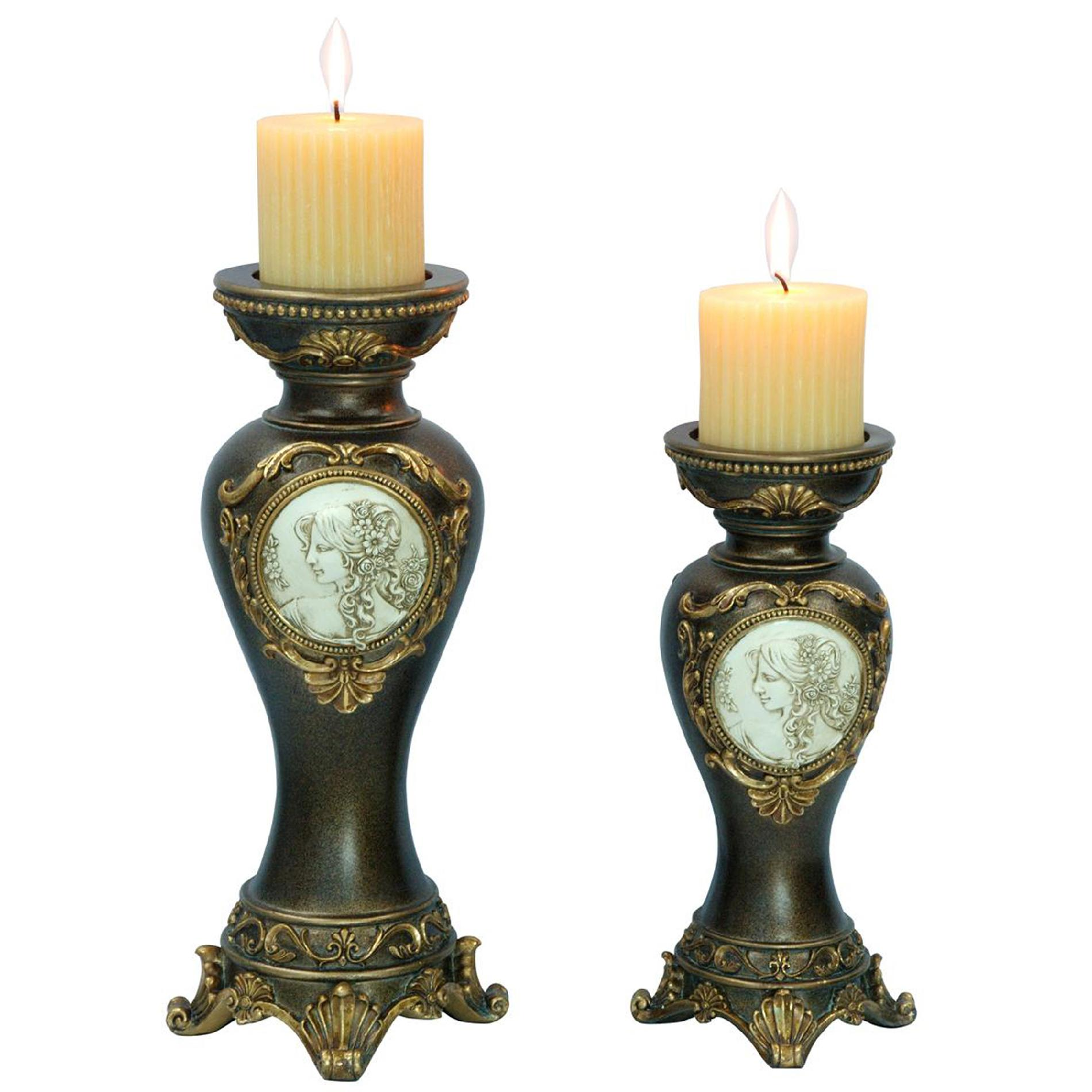Cool Candle Holders Ore International 14 Quot 11 Quoth Handcrafted Bronze Decorative