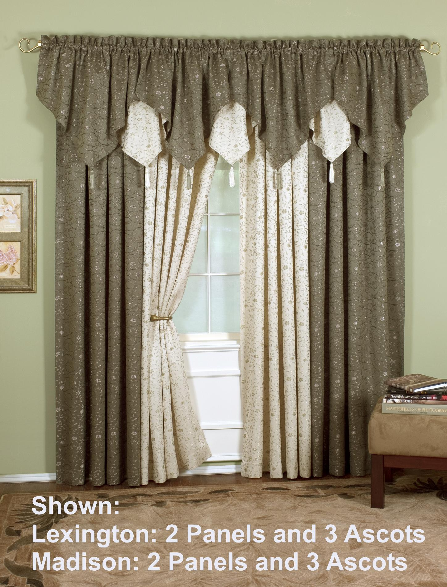 Earth Tone Curtains Today 39s Curtain Lexington Ascot Valance