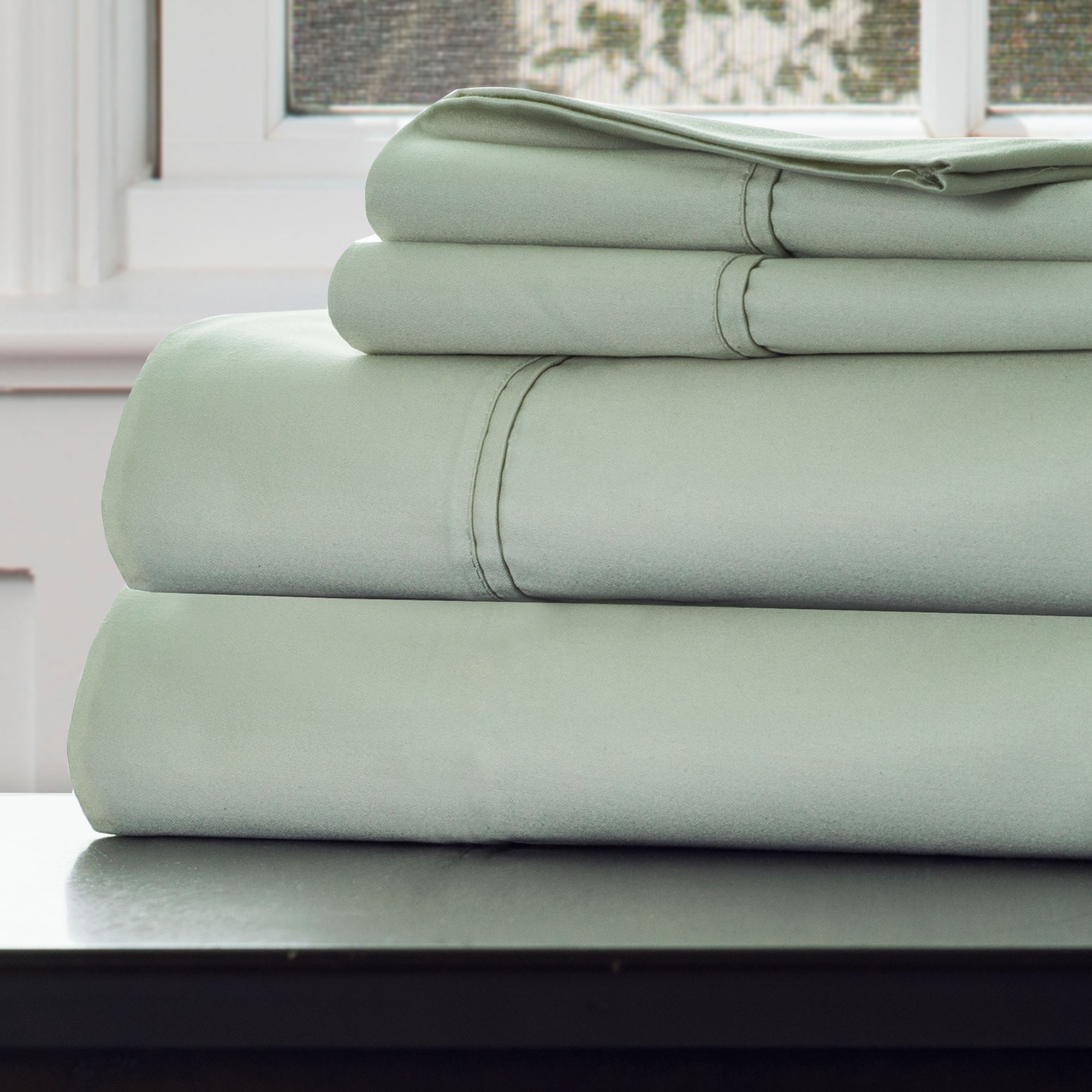 1000 Thread Count Sheets King Lavish Home 1000 Tc Cotton Rich Sateen Sheet Set King Green