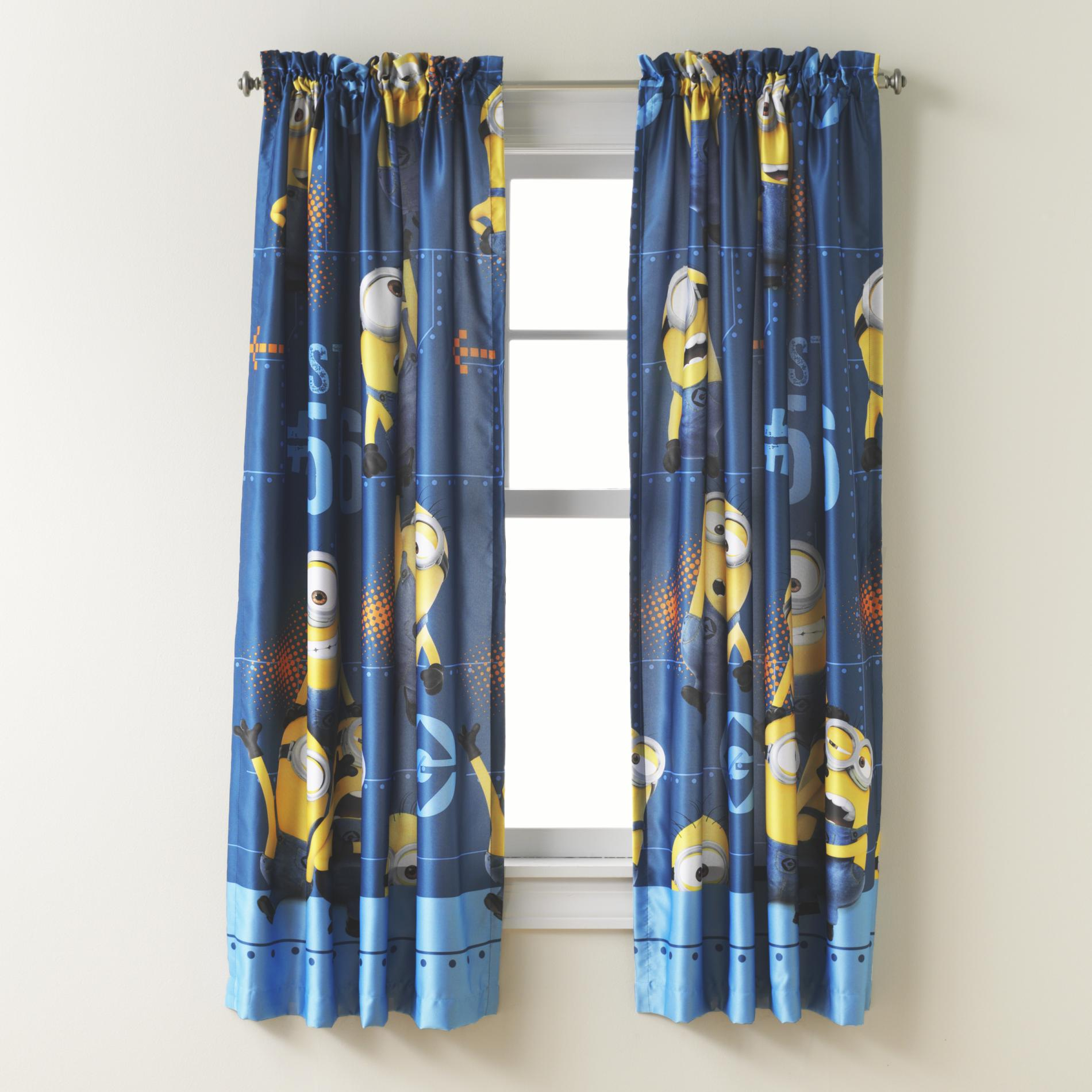 36 Inch Room Darkening Curtains Illumination Entertainment Despicable Me Minions Room Darkening Panel
