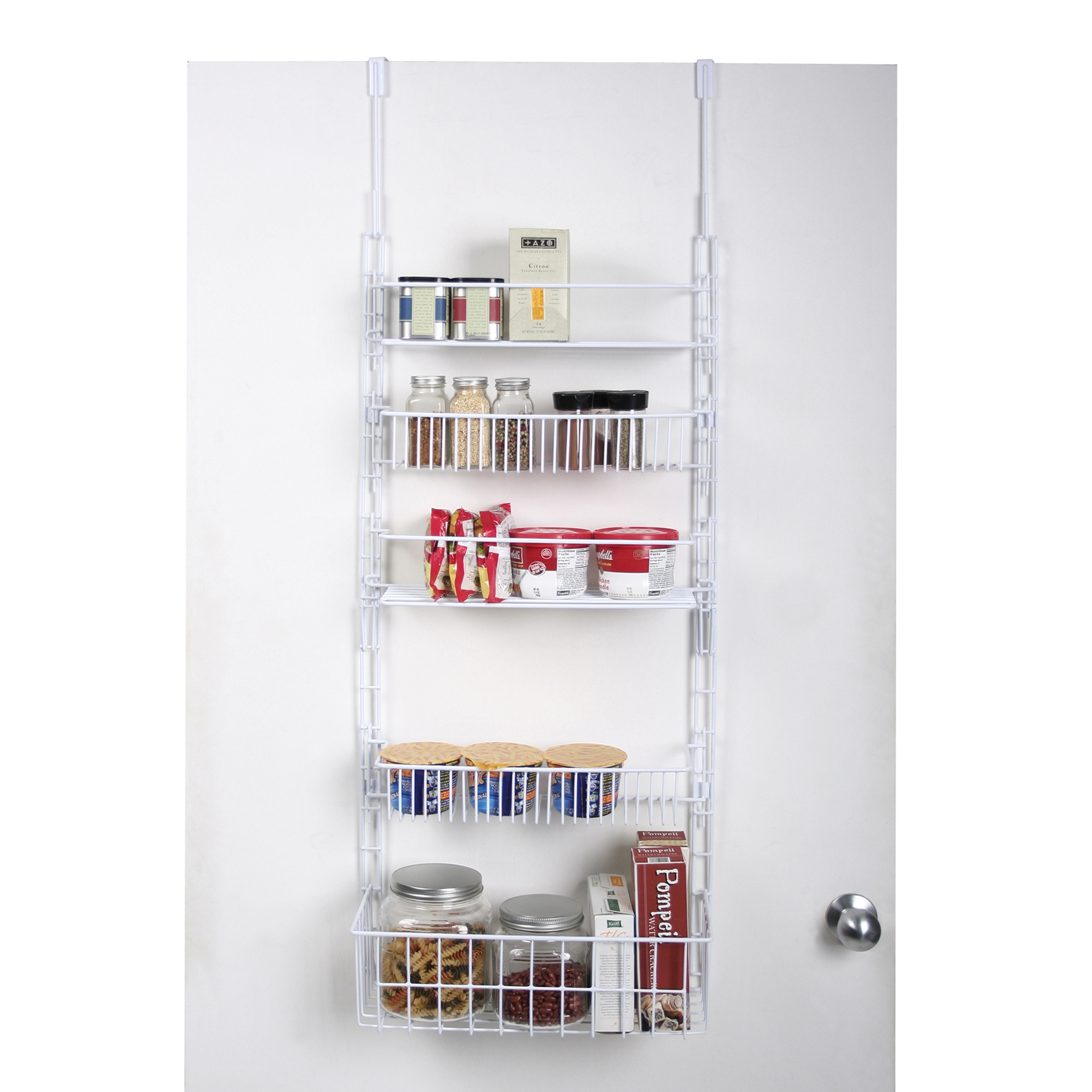 Essential Home Over The Door Pantry Organizer White