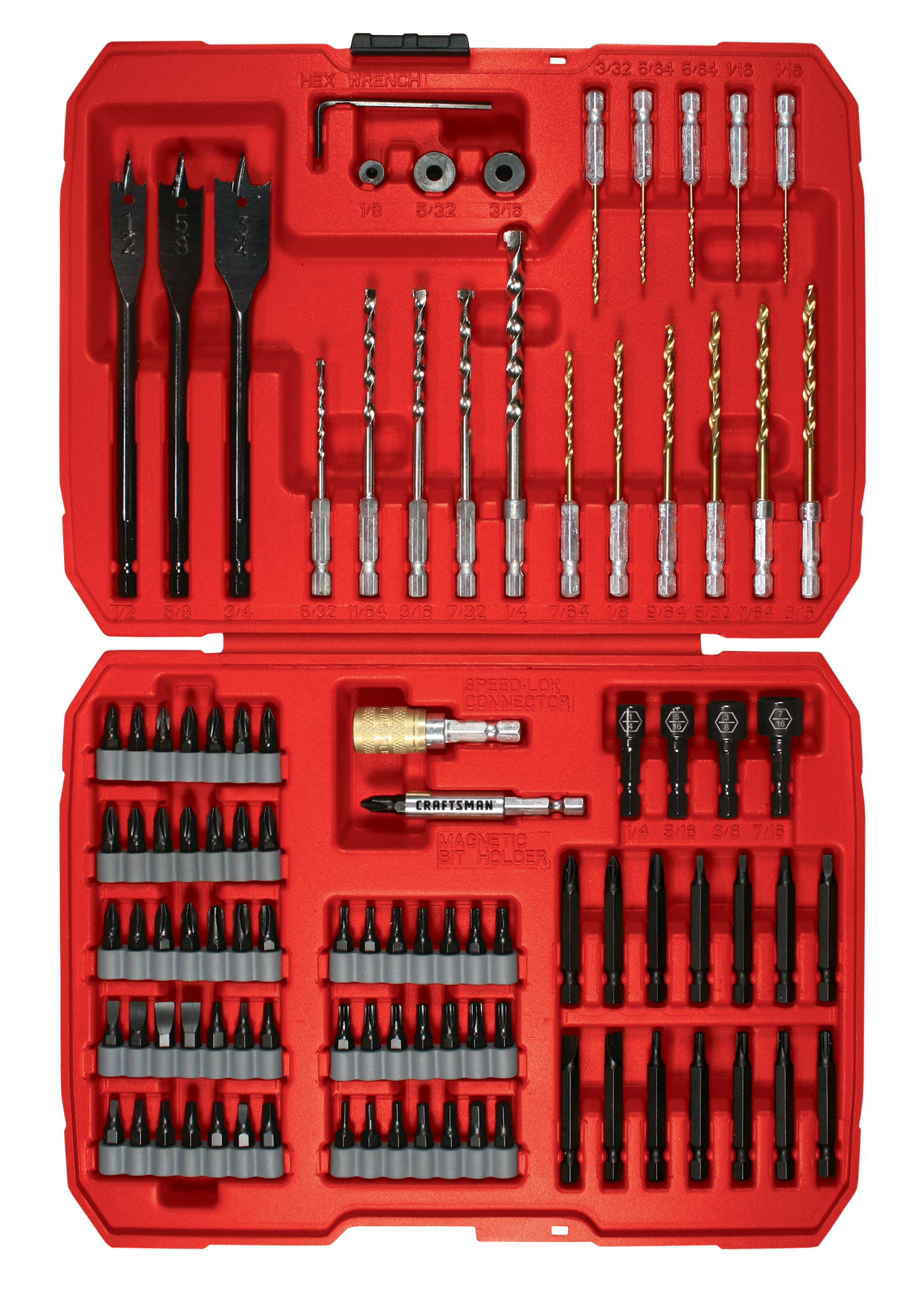 Drill Driver Set Craftsman Speed Lok 100 Piece Impact Drill And Drive Set