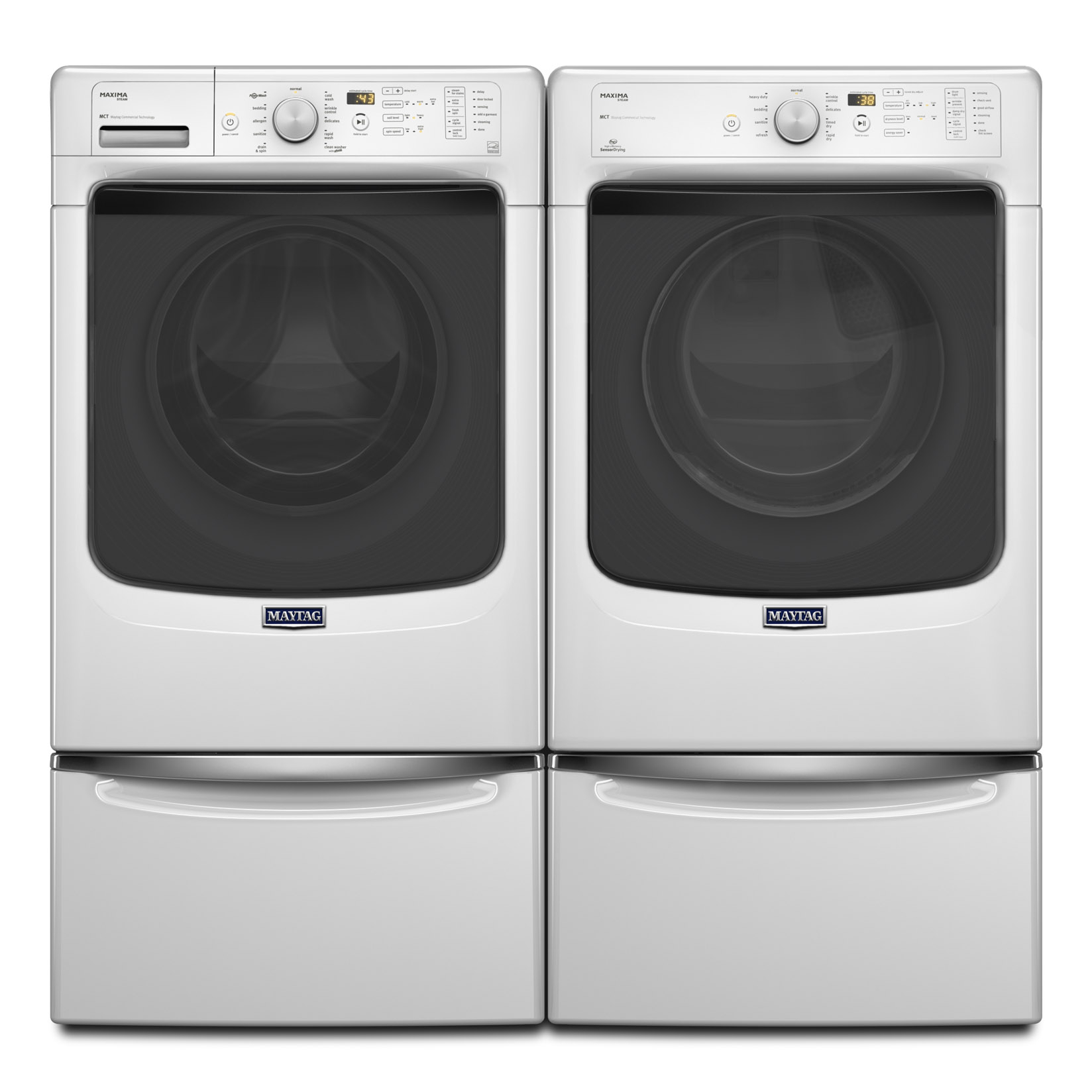 Maytag Mhw5100dw 4 5 Cu Ft Front Load Washer Sears - Maytag Maxima Washer Reviews