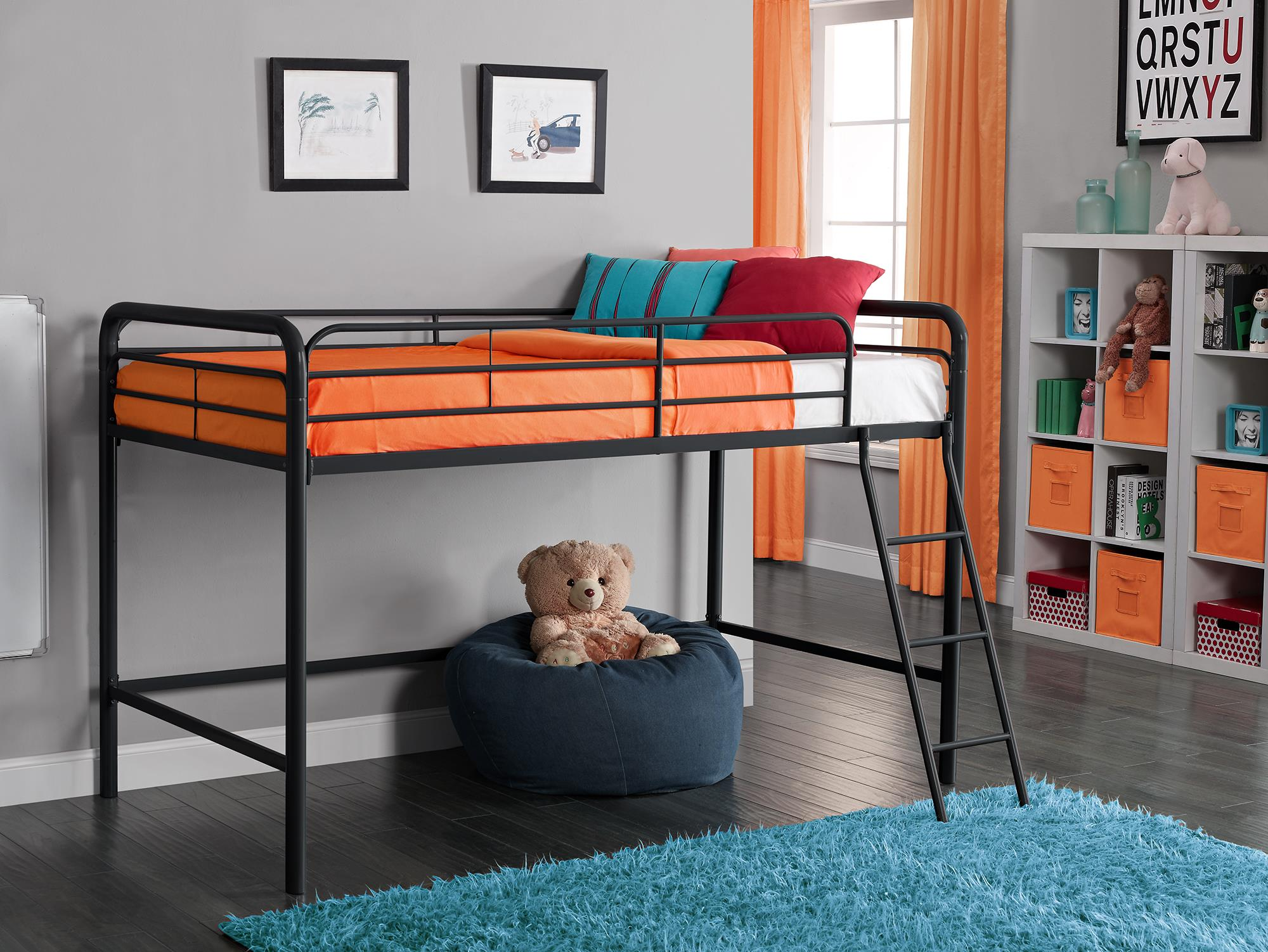 Black Loft Bed Dorel Home Furnishings Junior Loft Bed Black Home