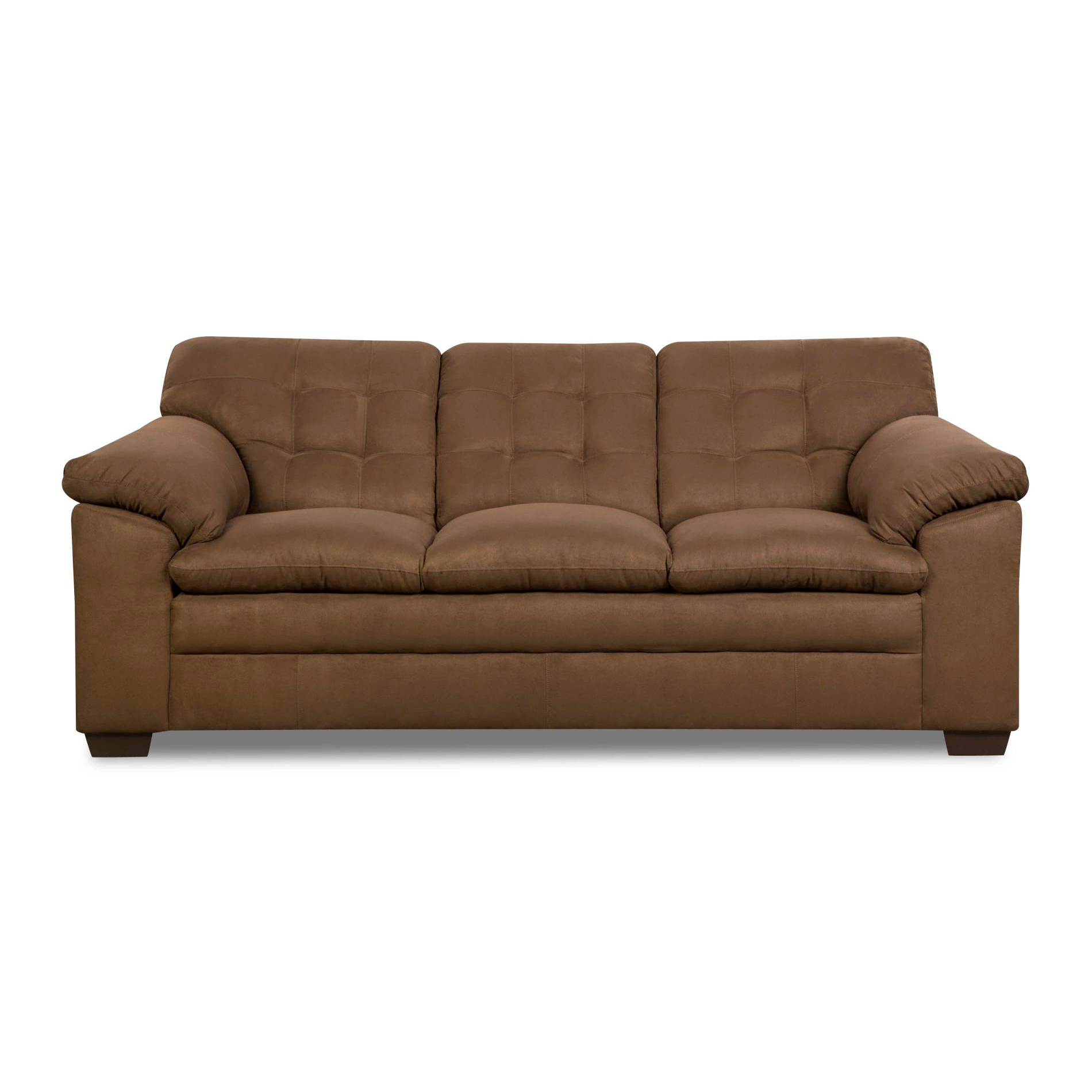 Cushions For Brown Leather Sofas Simmons Brown Griffin 3 Cushion Contemporary Sofa