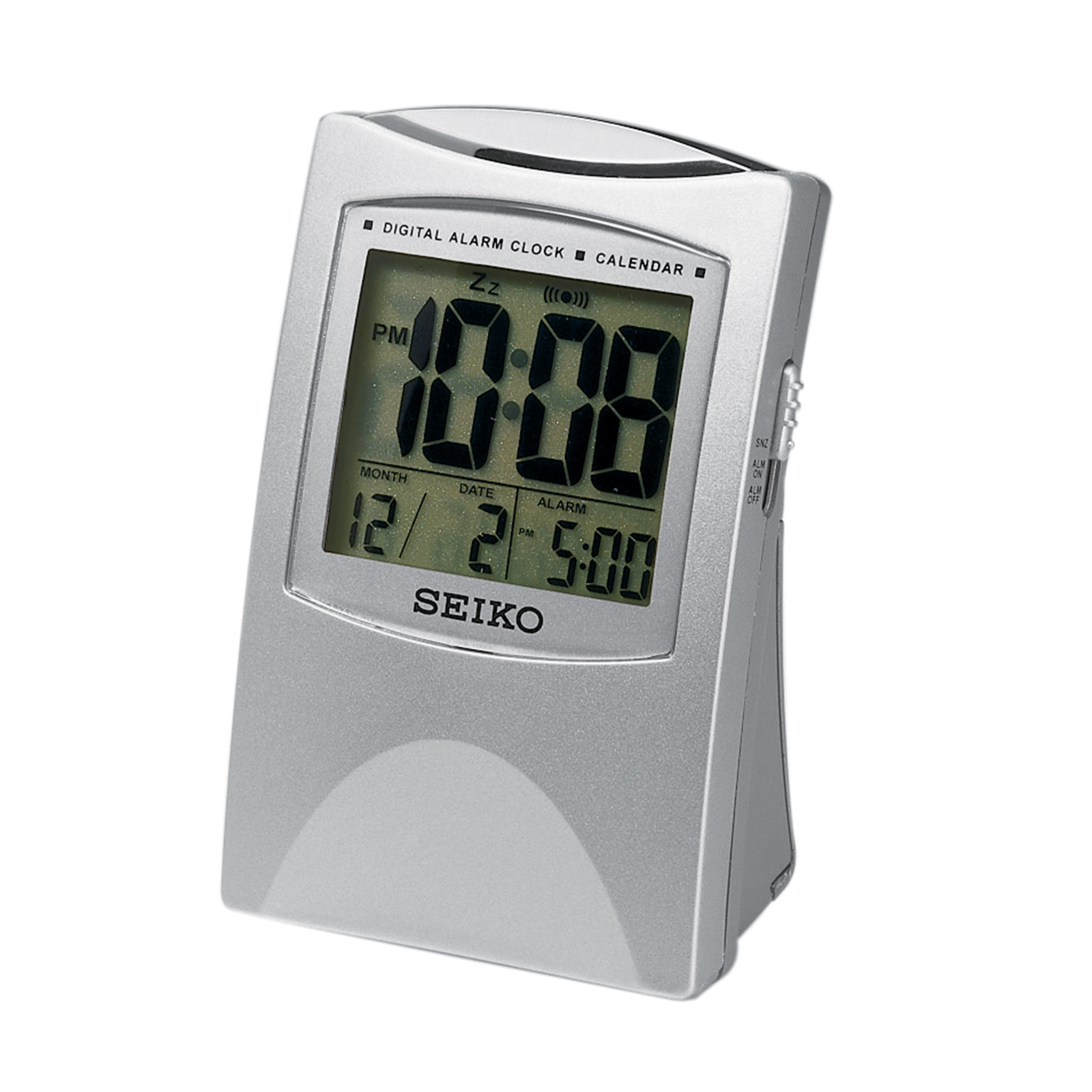 Bedside Alarm Clock Digital Seiko Bedside Alarm With Get Up And Glow Qhl005slh Shop