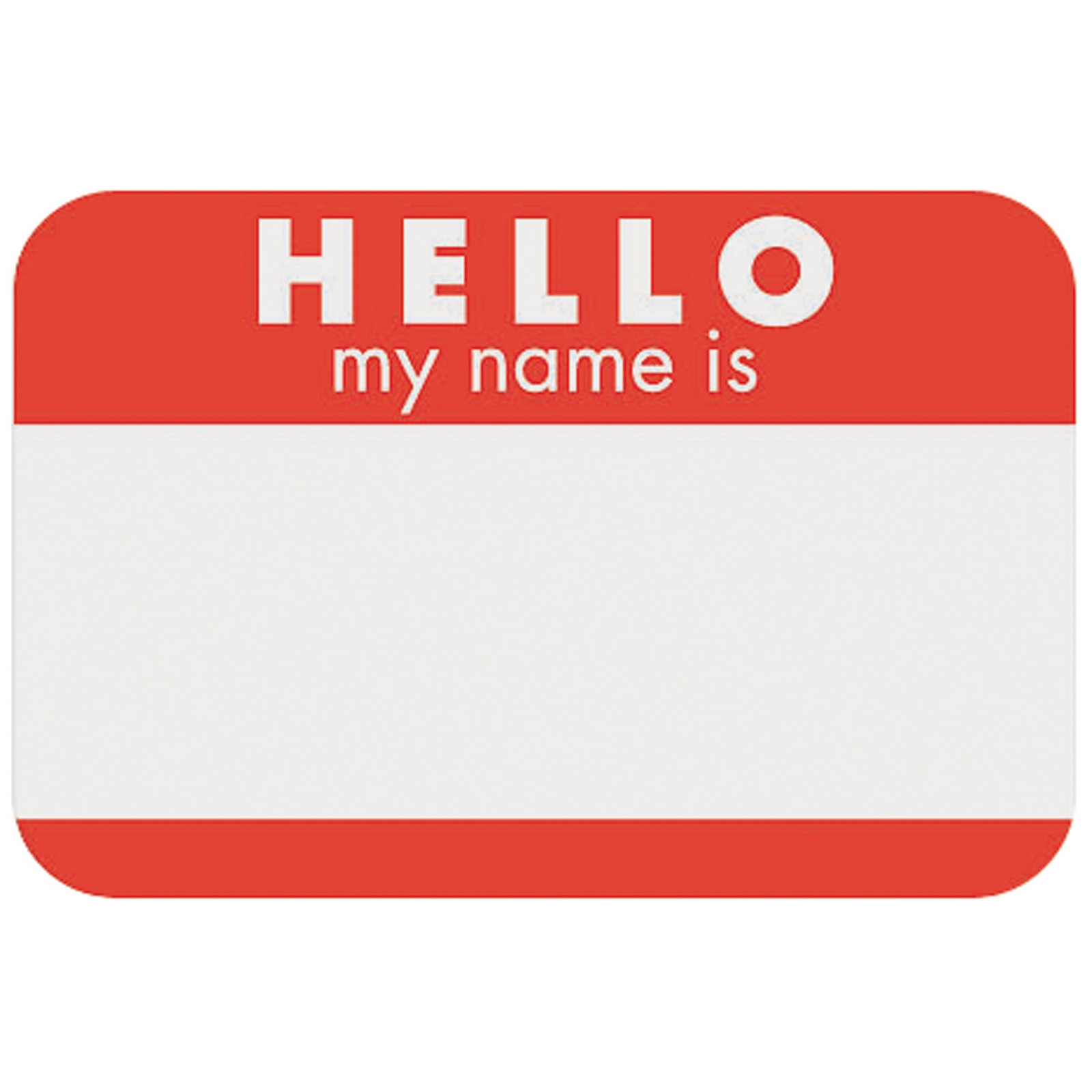 Kmart Photo Prints Self Adhesive Name Tags 100 Pkg Hello Red