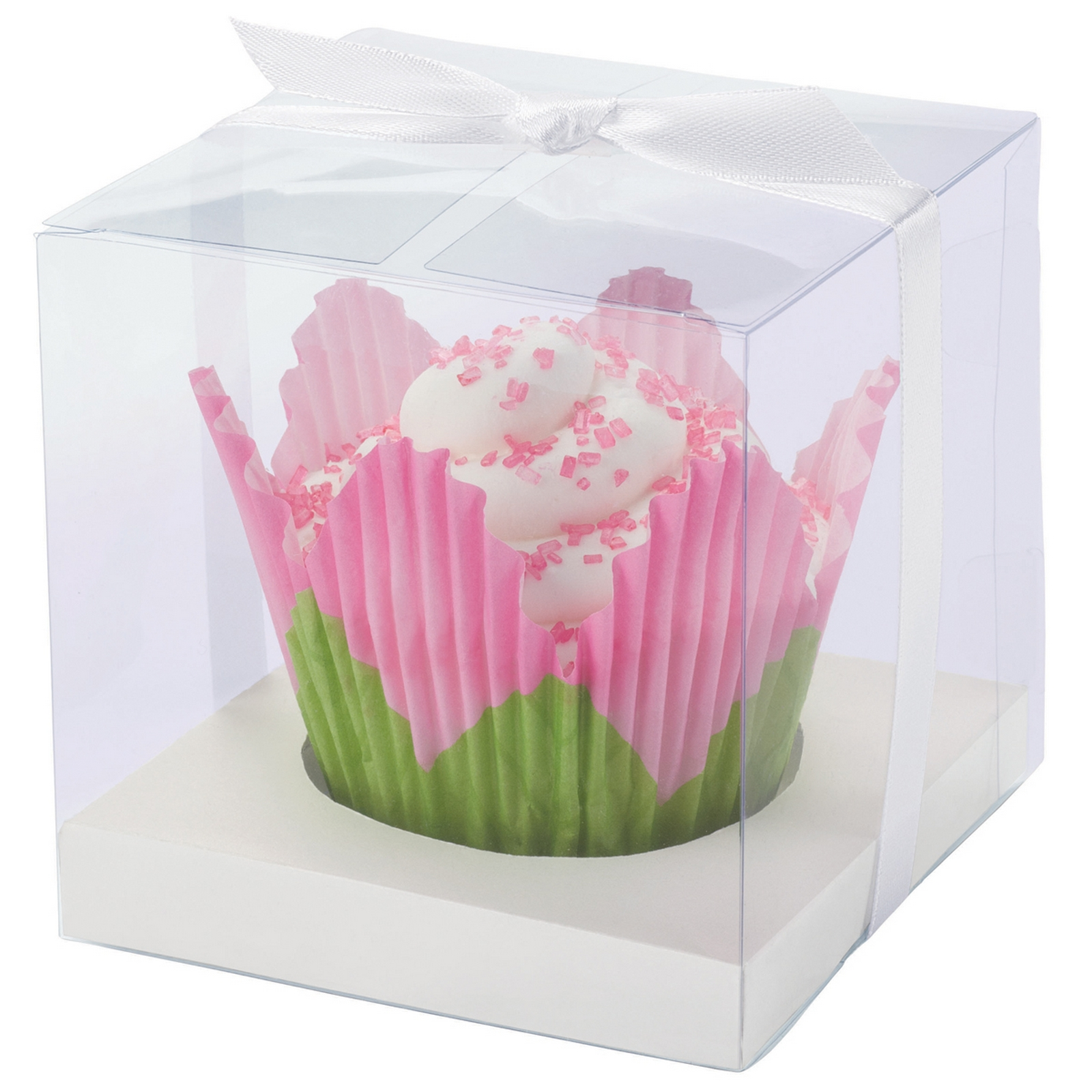 Cupcake Boxes Kmart Wilton Cupcake Box 20 Pkg Clear And White