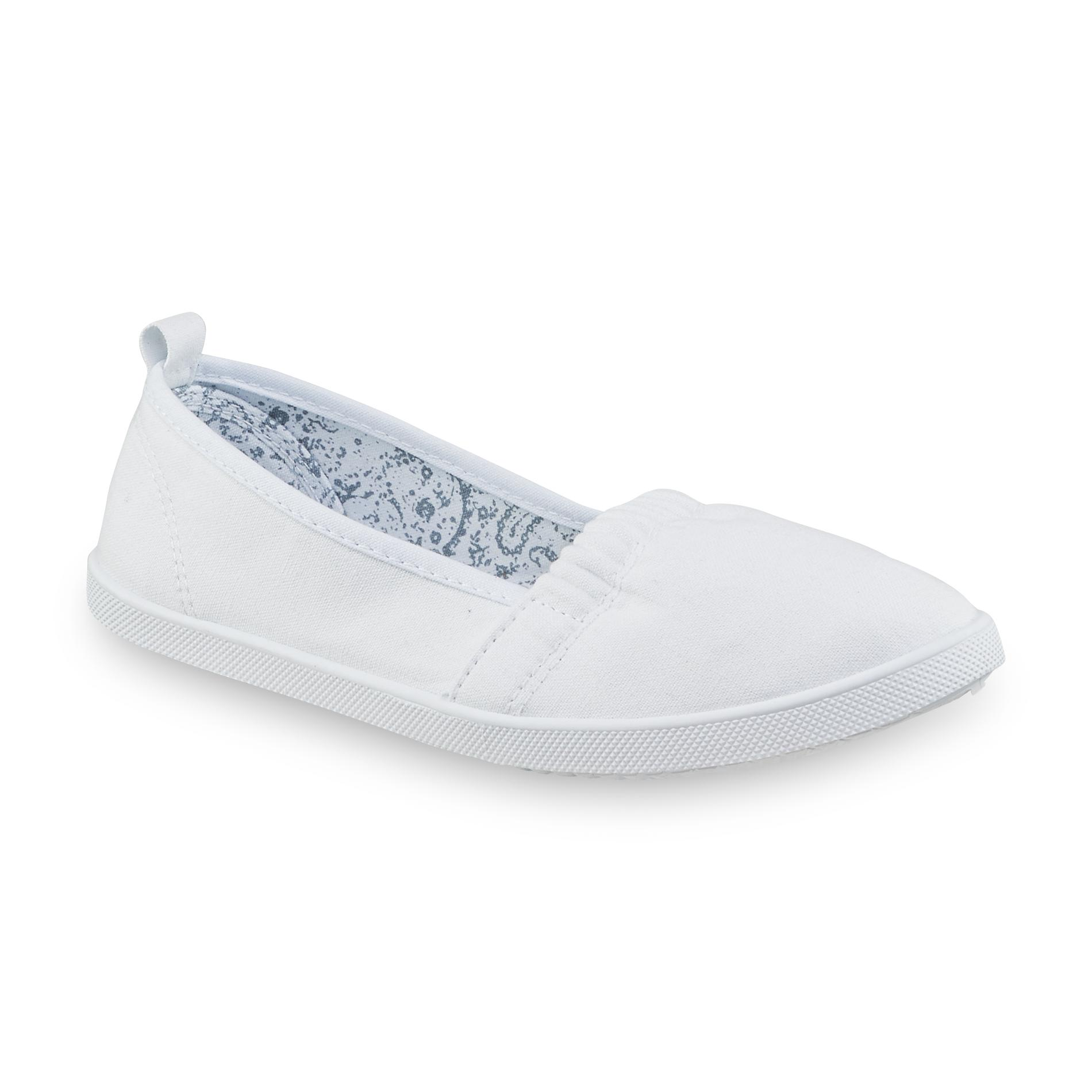 Kmart Canvas Printing Basic Editions Women S Dakota White Casual Slip On Shoe