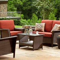 Ty Pennington Style Parkside Deep Seating Set- Rust ...