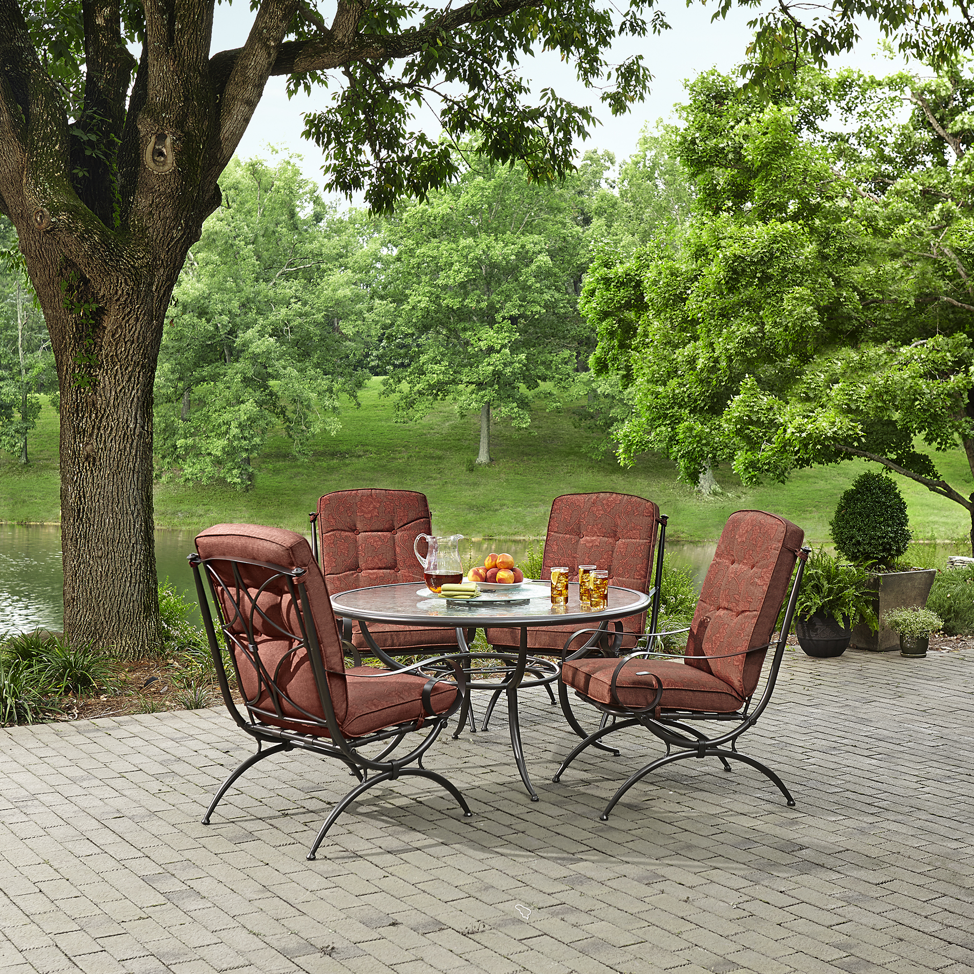Jaclyn Smith Cora 4 Dining Chairs Red Limited