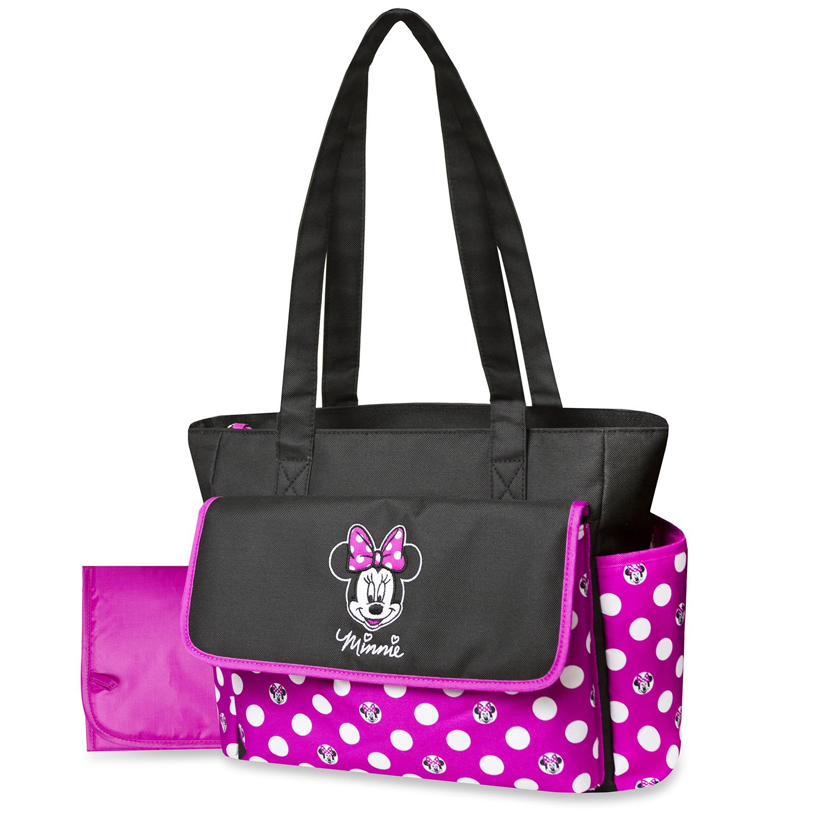 Top Infant Baby Toys Disney Minnie Mouse Diaper Bag Changing Pad Polka Dots