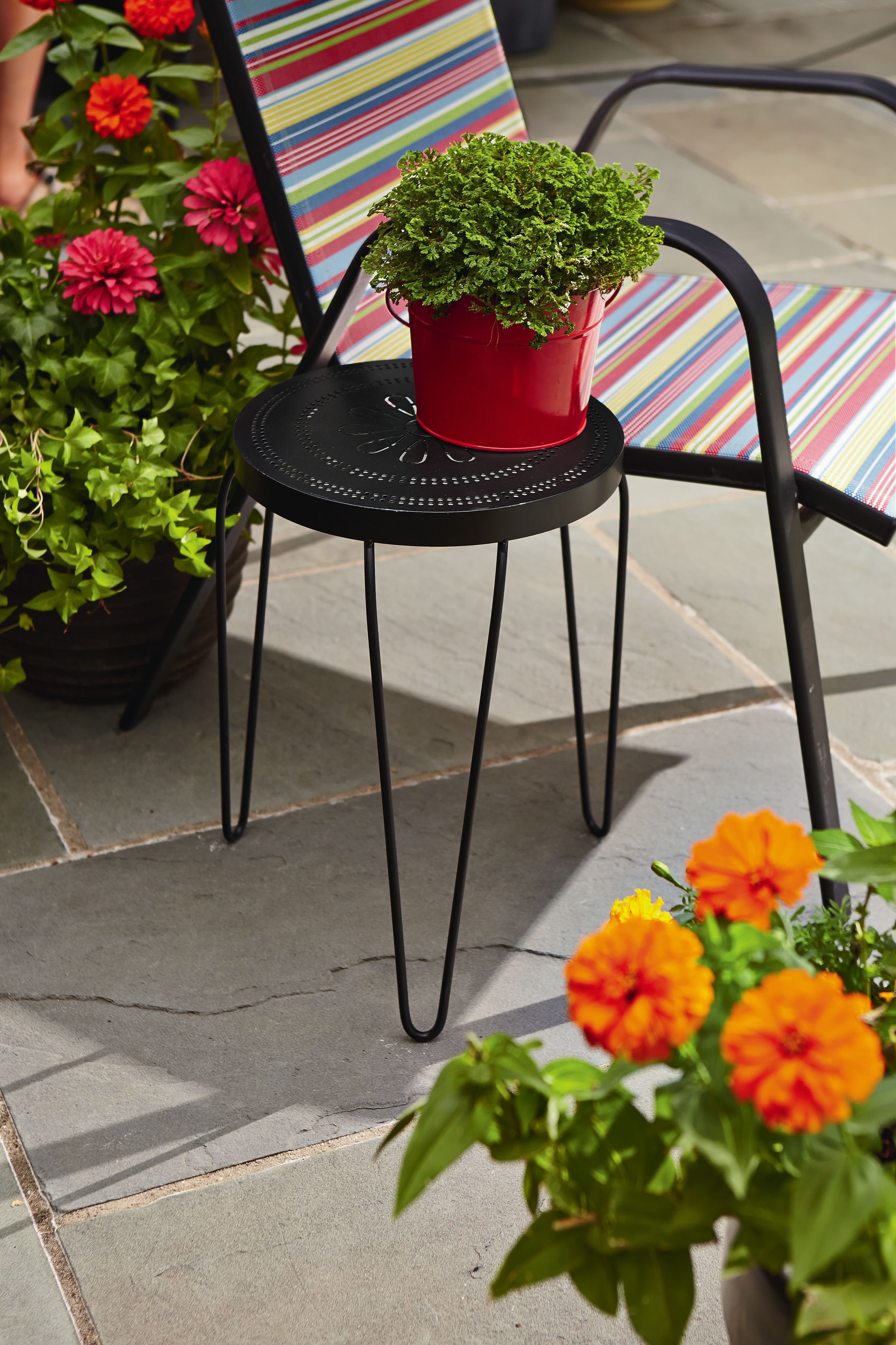 Black Wire Plant Stand Essential Garden 18 Quot Metal Plant Stand Black Outdoor