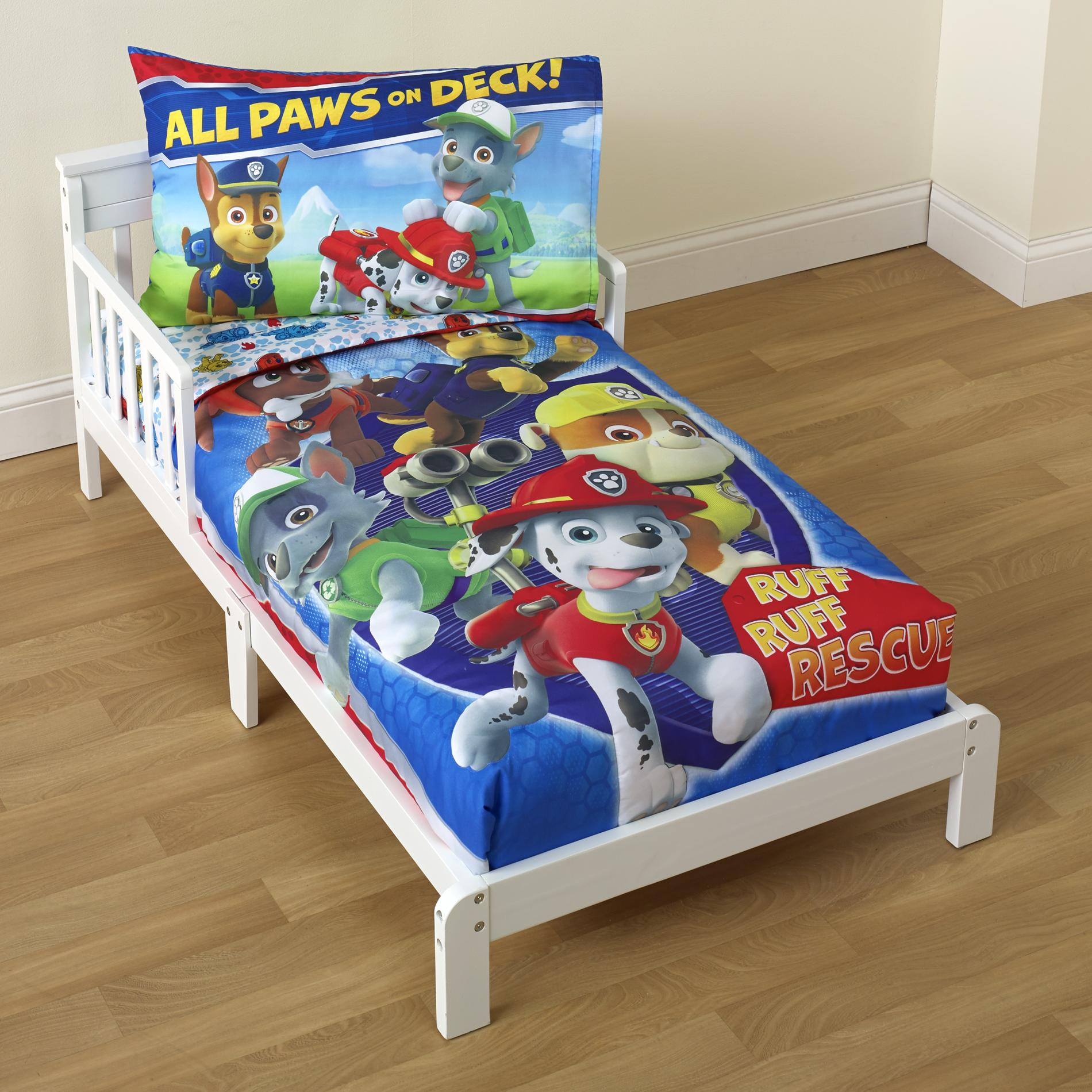 Nickelodeon Paw Patrol Toddler Boy39s 4 Piece Bedding Set