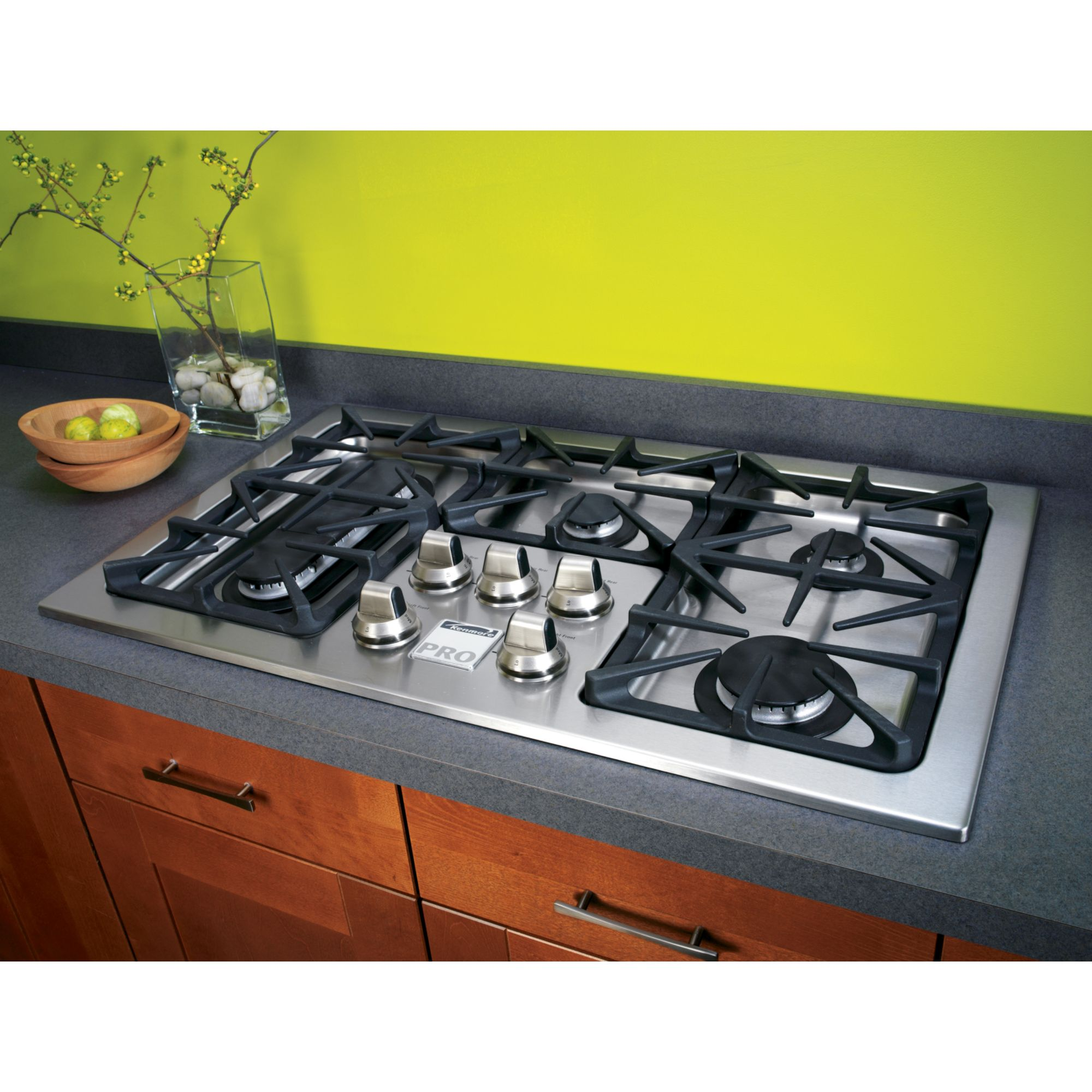 Cooktop Gas Stoves Kenmore Slide In Ceramic Glass Gas Cooktop High Output At
