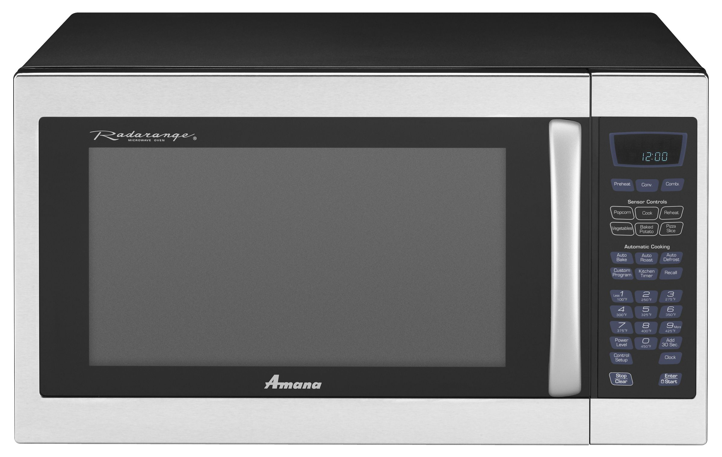 Countertop Microwave Convection Oven Combo Amana Countertop Microwaves 1 5 Cu Ft Amc6158bas Sears