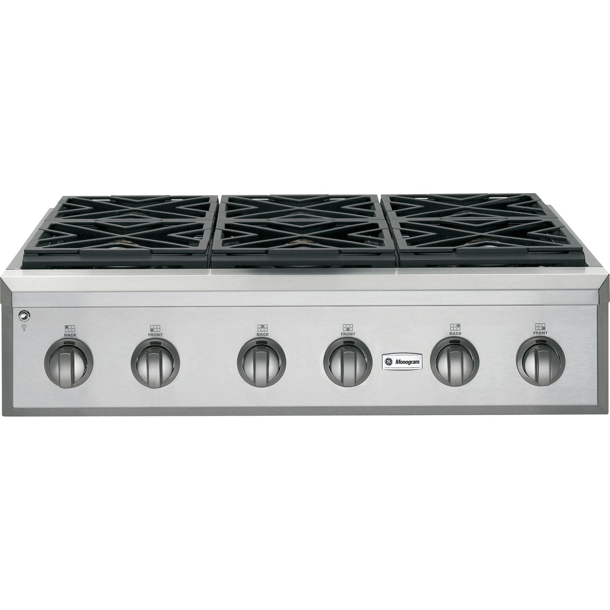 ge monogram cooktop 36 gas