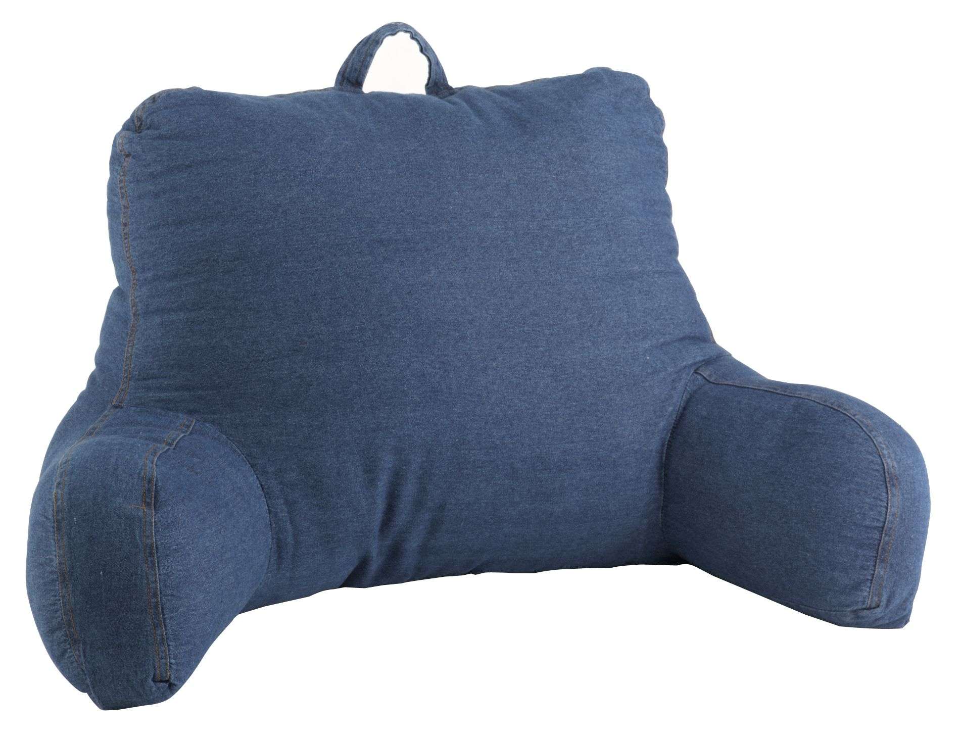 Reading Pillow Bed Washed Blue Denim Bedrest