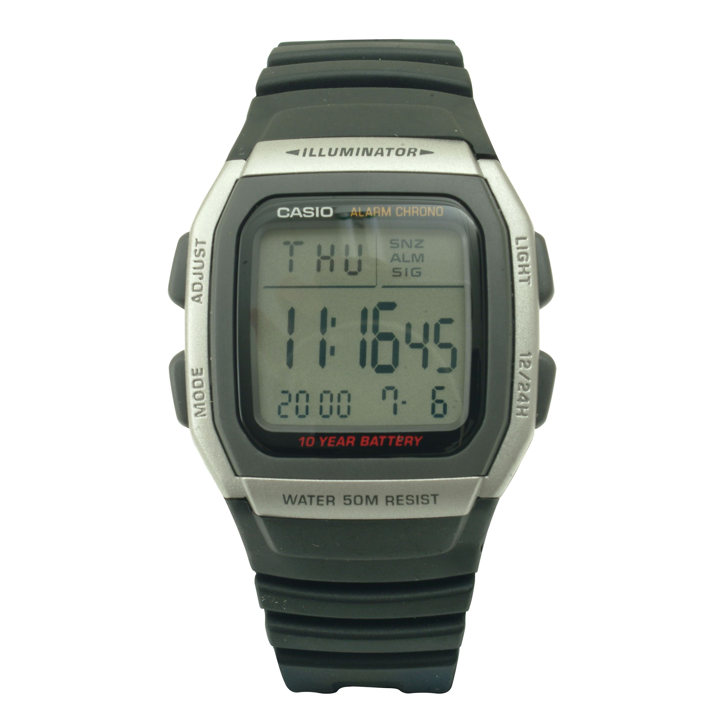 Battery Digital Casio Mens Digital Watch With 10 Year Battery