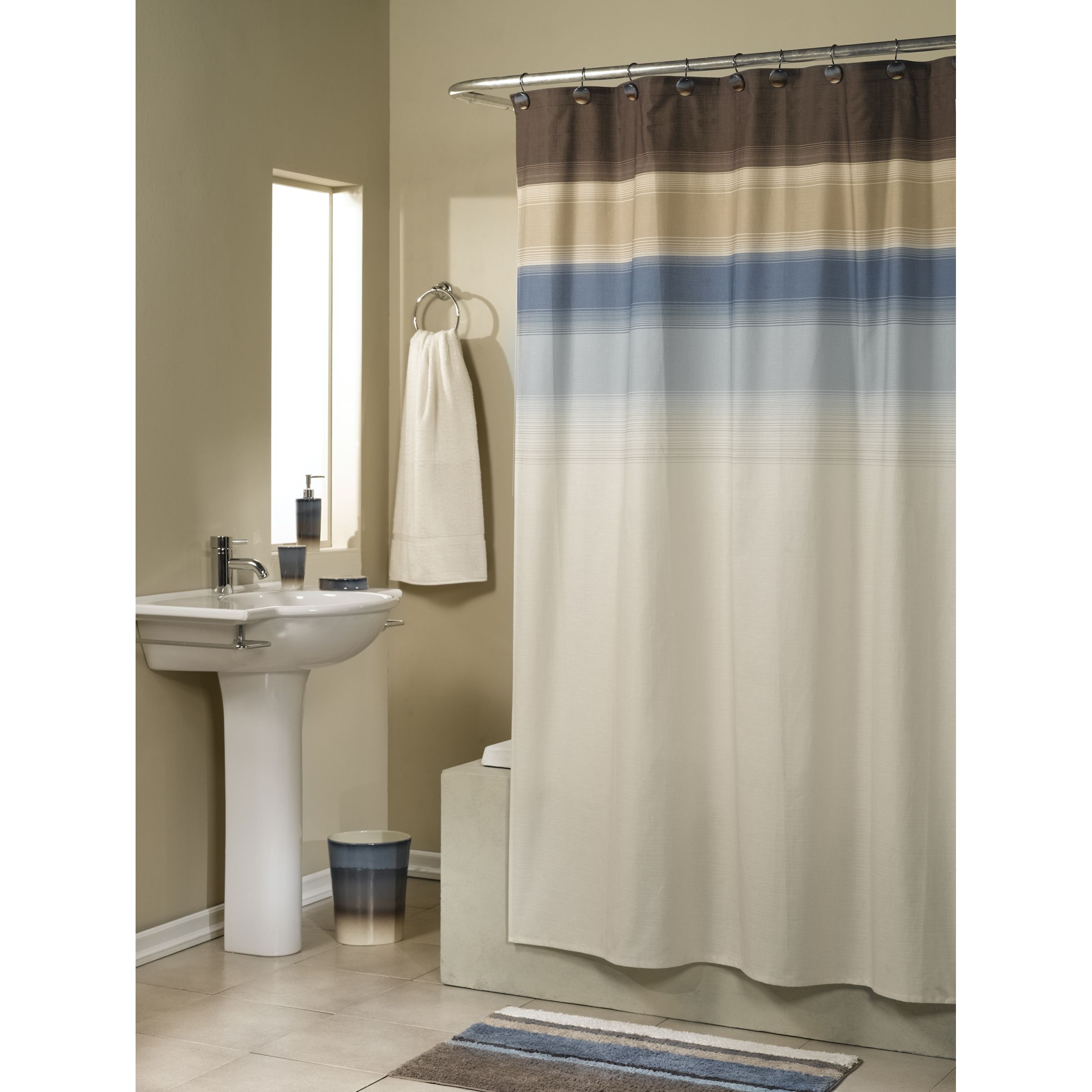 Earth Tone Curtains Ty Pennington Style Shower Curtain Tango Fabric