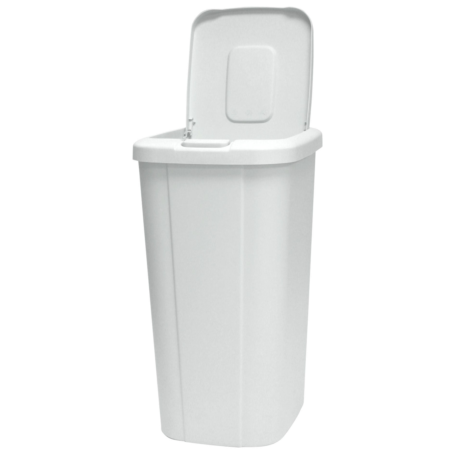 Kitchen Garbage Can With Lid Nine Stars Infrared Motion Sensor Lid Open Trash Can