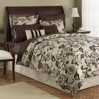 Jaclyn Smith Flocked Roses Comforter Set
