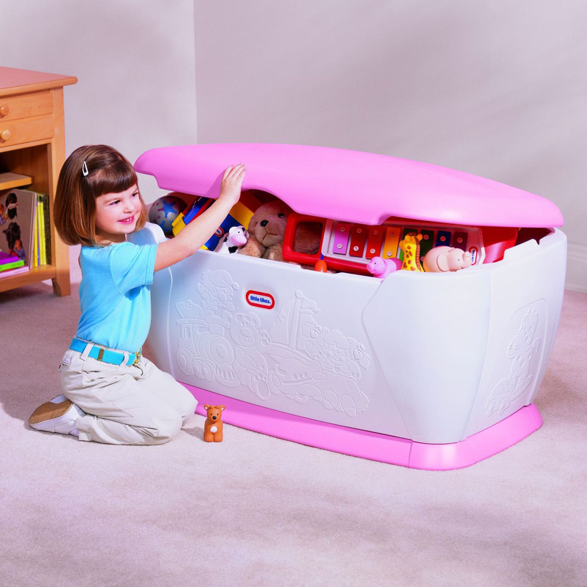 Little Tikes Giant Toy Chest Pink Lid