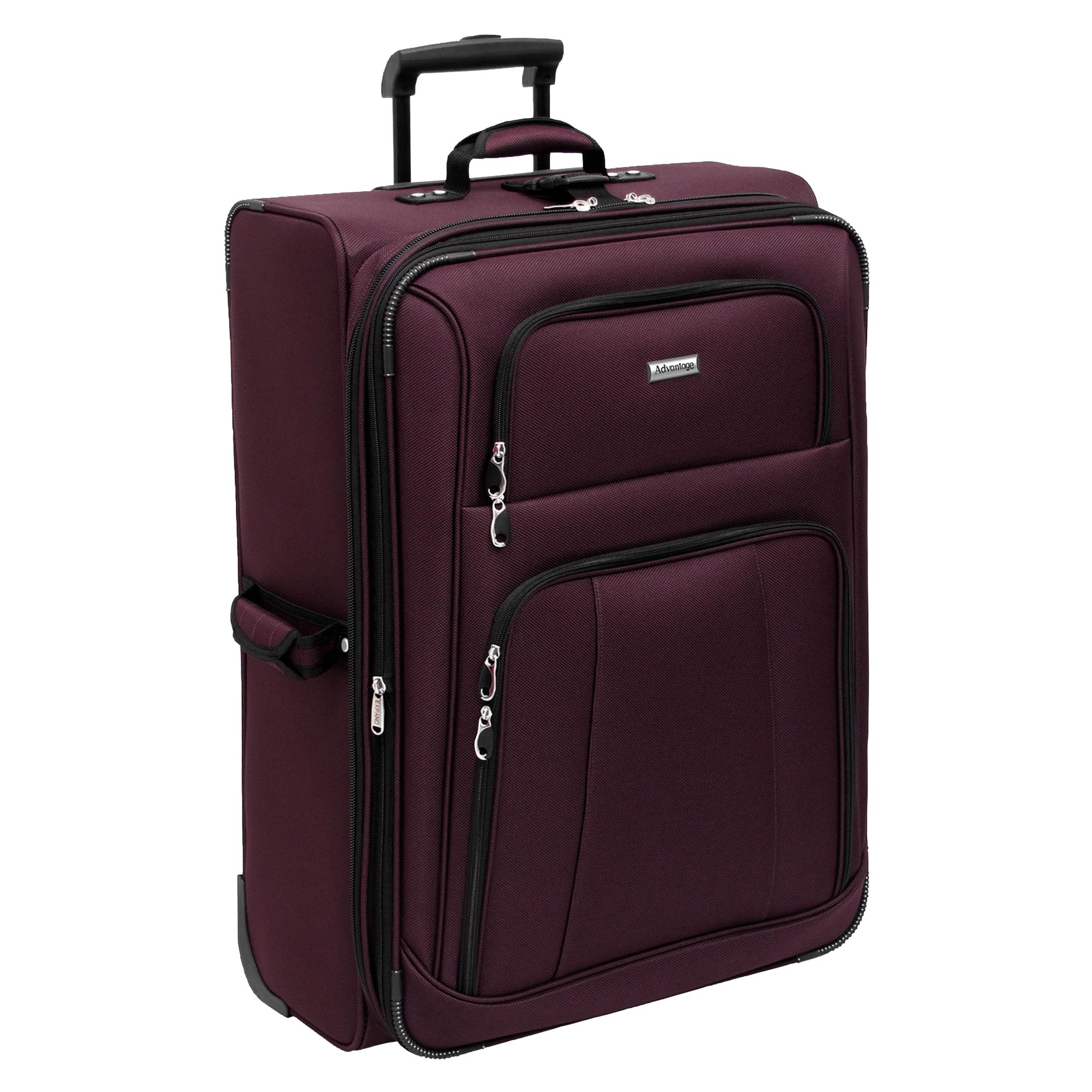 Travel Bag Kmart 28in Lightweight Upright Merlot Suitcase Travel In