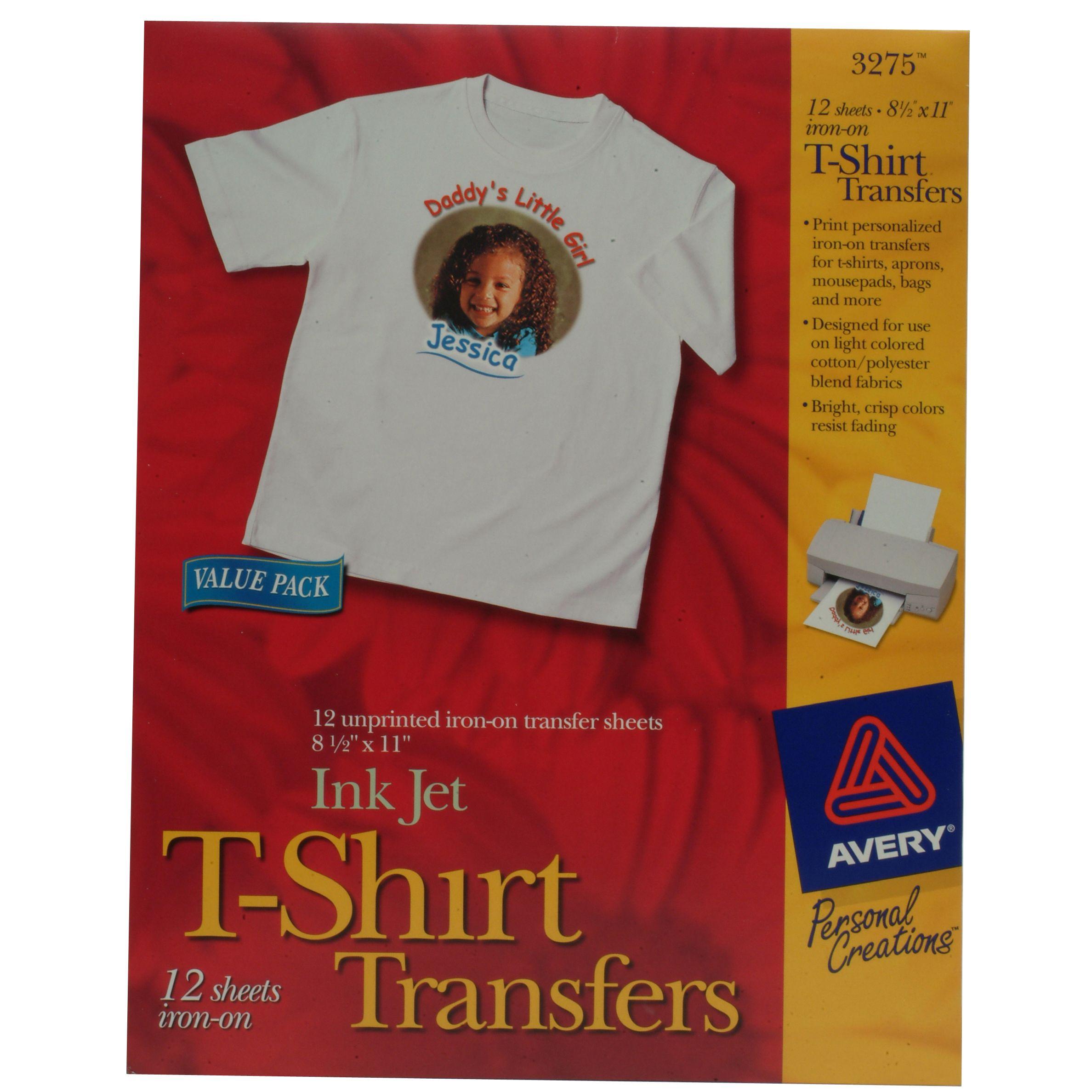 avery t shirt transfers templates