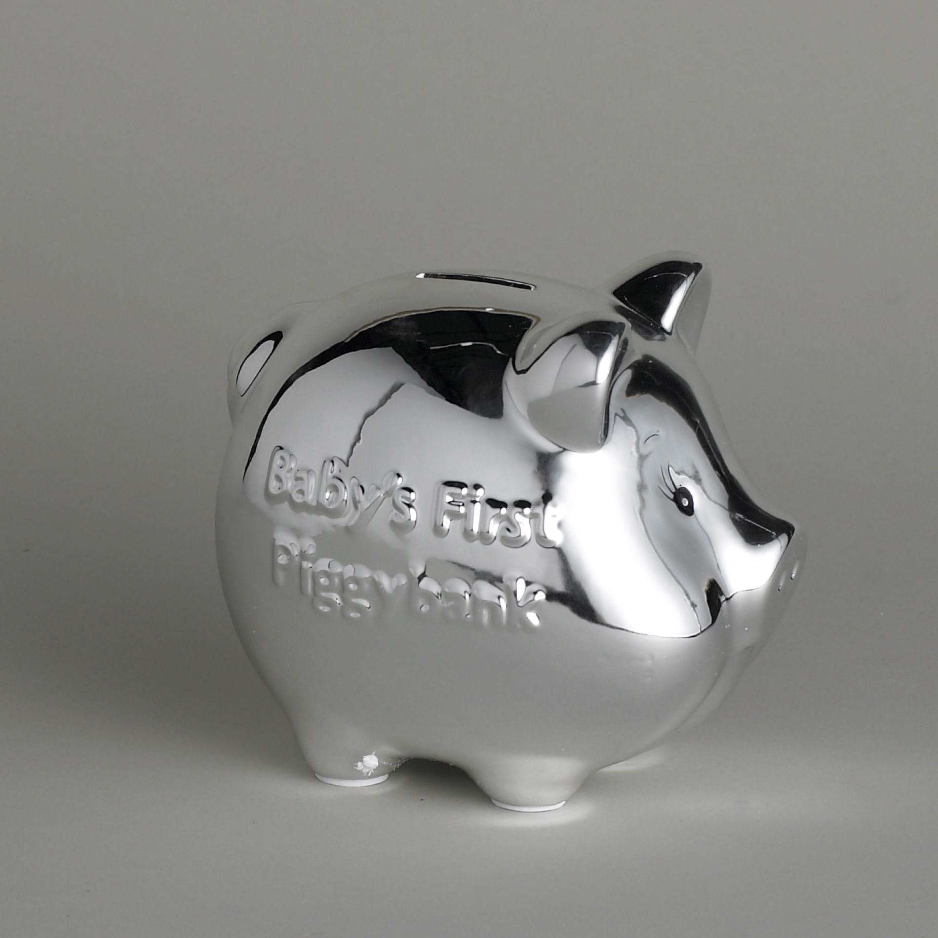 Silver Piggy Bank For Baby Baby Essentials Silver Plated Piggy Bank