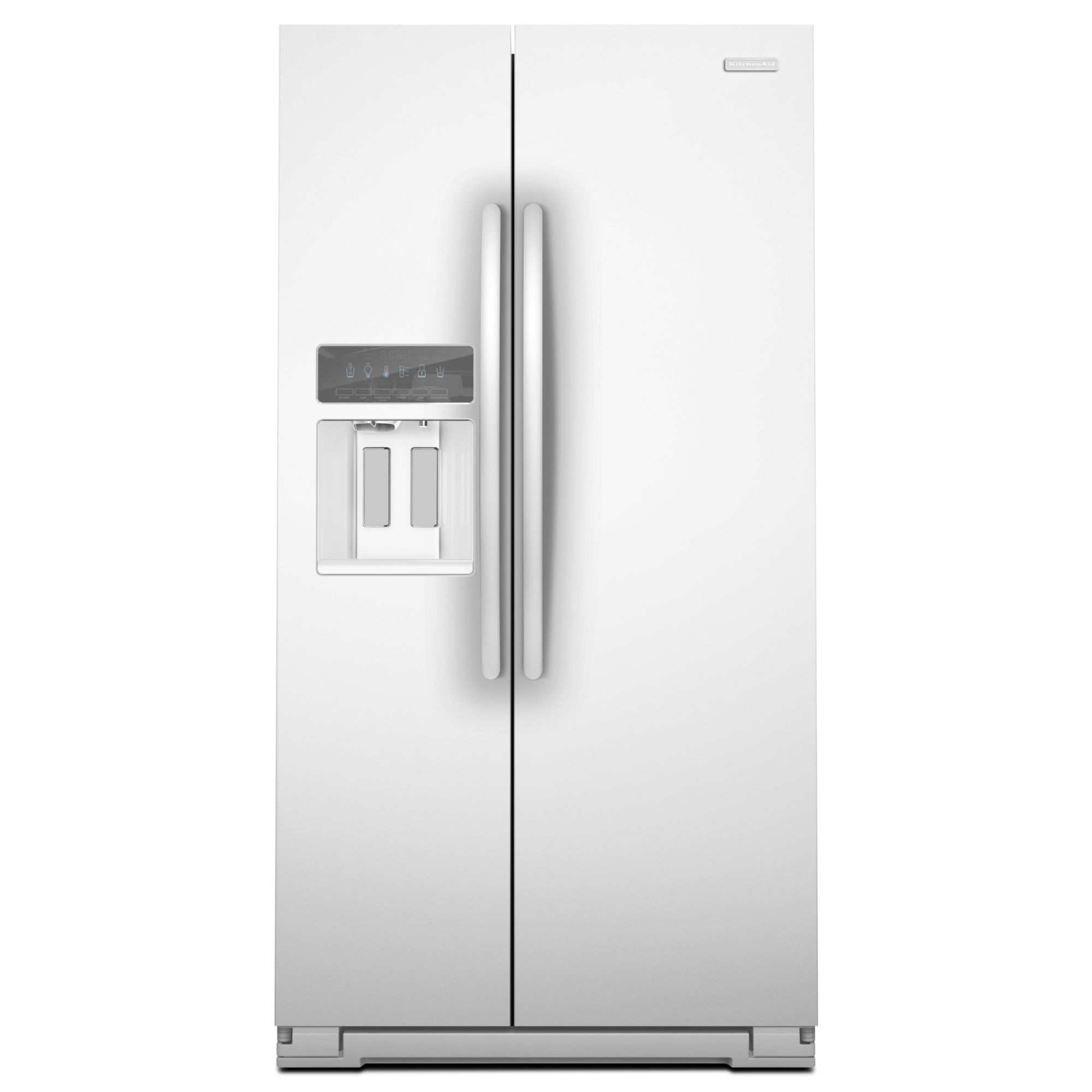 Side By Side Fridge Kitchenaid Ksc24c8eyw 23 9 Cu Ft Counter Depth Side By