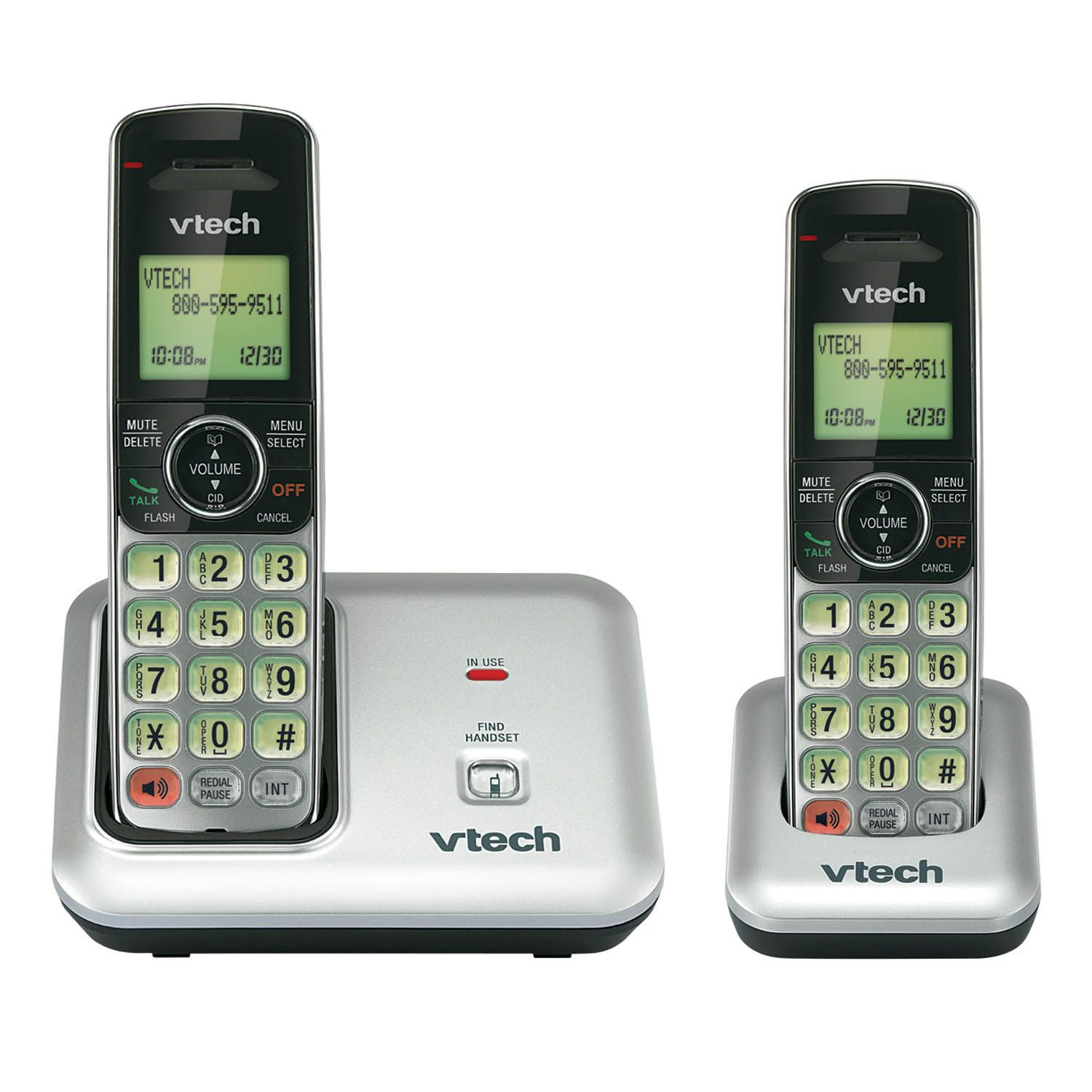 Wireless Phone Vtech Two Handset Cordless Phone System Cs6419 2 Energy