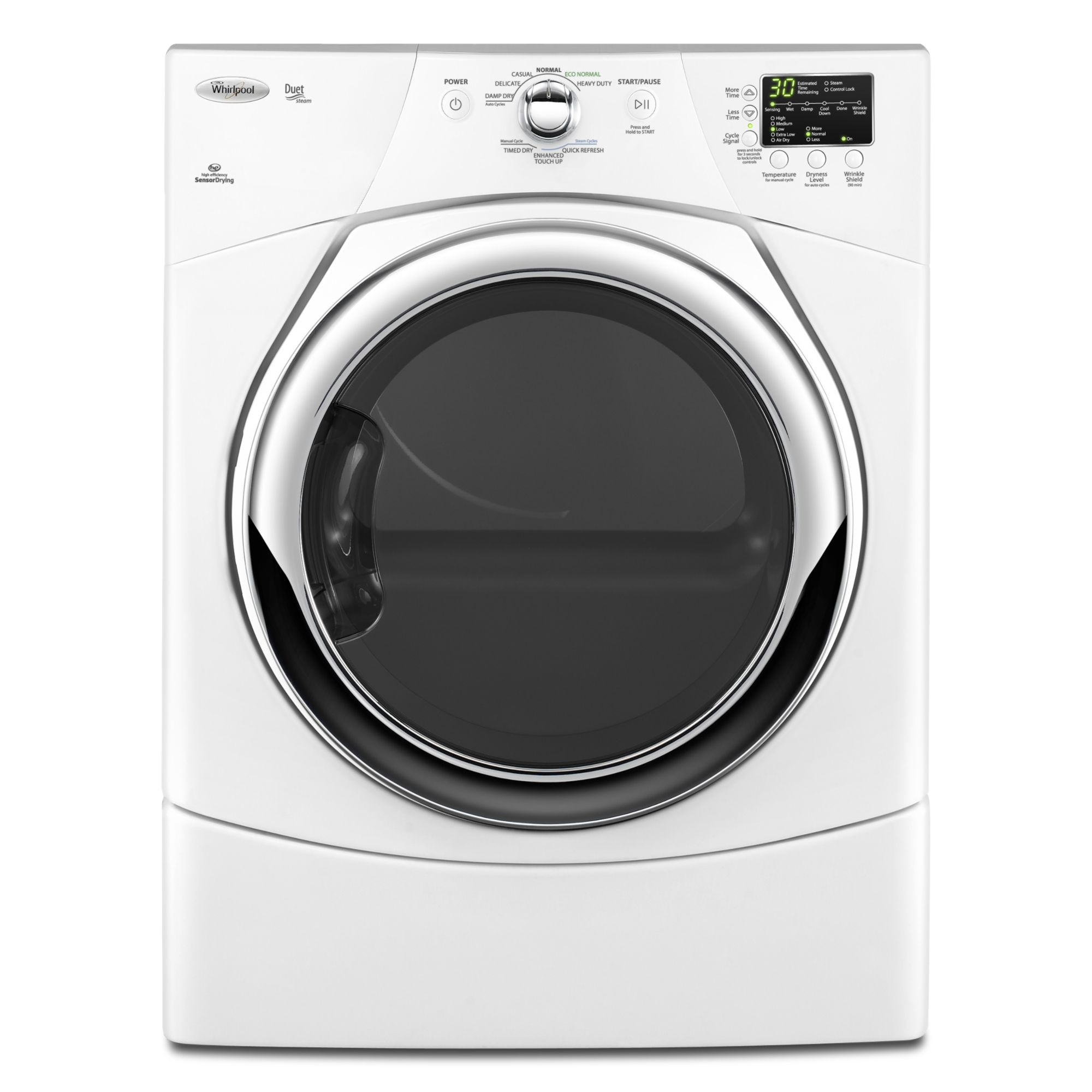 Whirlpool 6 7 Cu Ft Steam Gas Dryer White Shop Your - Whirlpool Steam Dryer