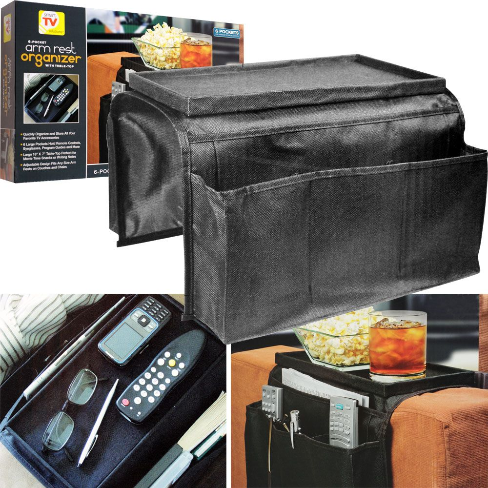 Sofa Arm Organizer Tray Check Out Trademark 6 Pocket Arm Rest Organizer W Table Top Shopyourway