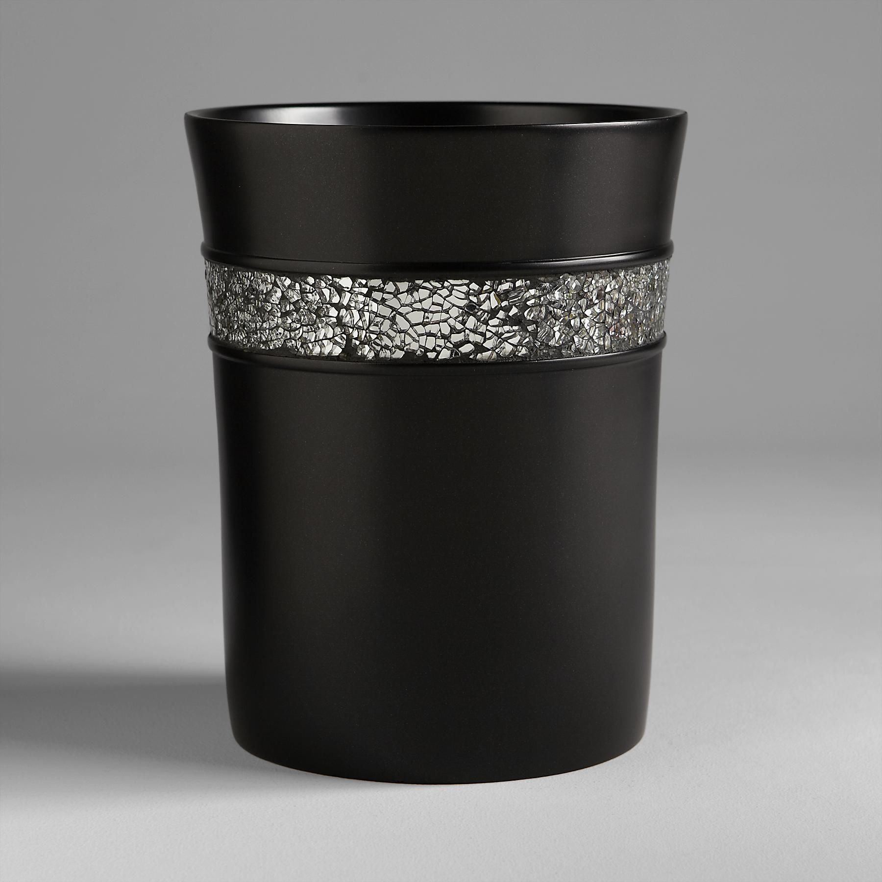 Black Bathroom Wastebasket Sofia By Sofia Vergara Black Magic Waste Basket