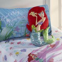 Disney Girl's Little Mermaid Cuddle Pillow