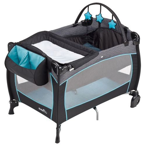 Baby Playpen And Mat Evenflo Babysuite Delux Koi Portable Play Yard