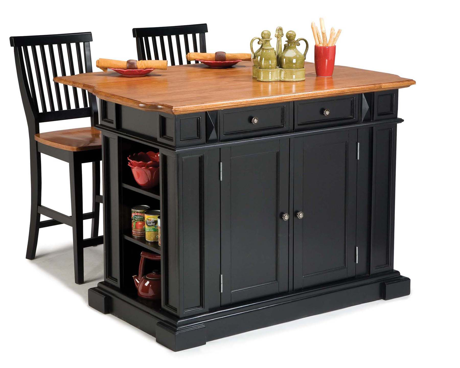 p P kitchen islands with stools Home Styles Kitchen Island and Two Stools Home Furniture Dining Kitchen Furniture Kitchen Carts Islands