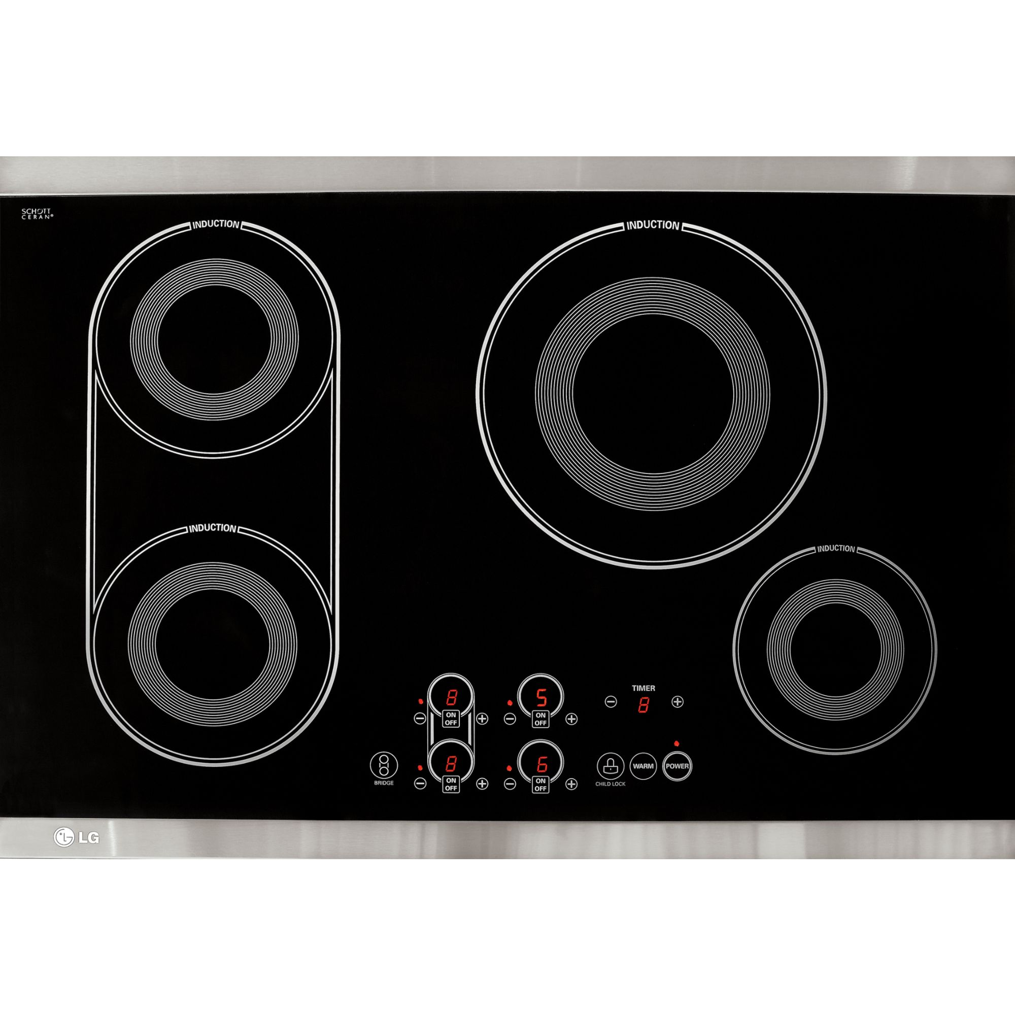 Induction Cooktop Lg Lce30845 30 Quot Induction Electric Cooktop