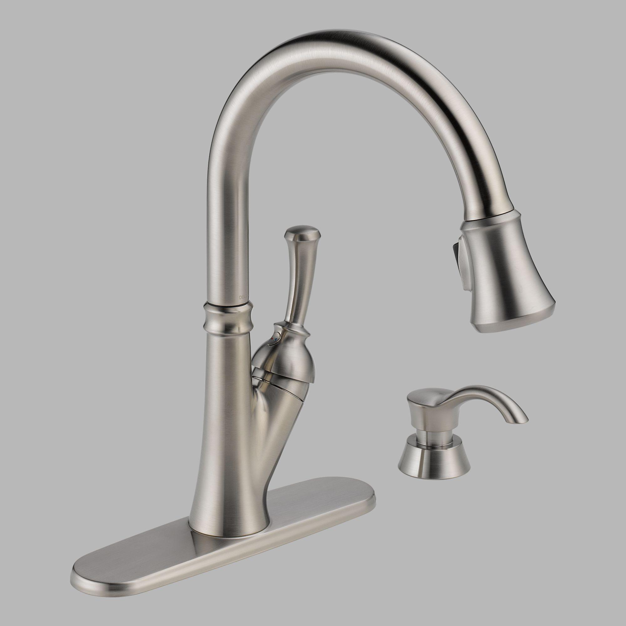 delta savile single handle pull down 31 delta kitchen faucet parts Delta Savile Single Handle Pull Down Kitchen Faucet With Soap Dispenser cheap price