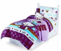 Hello Kitty Peace Signs Twin Comforter