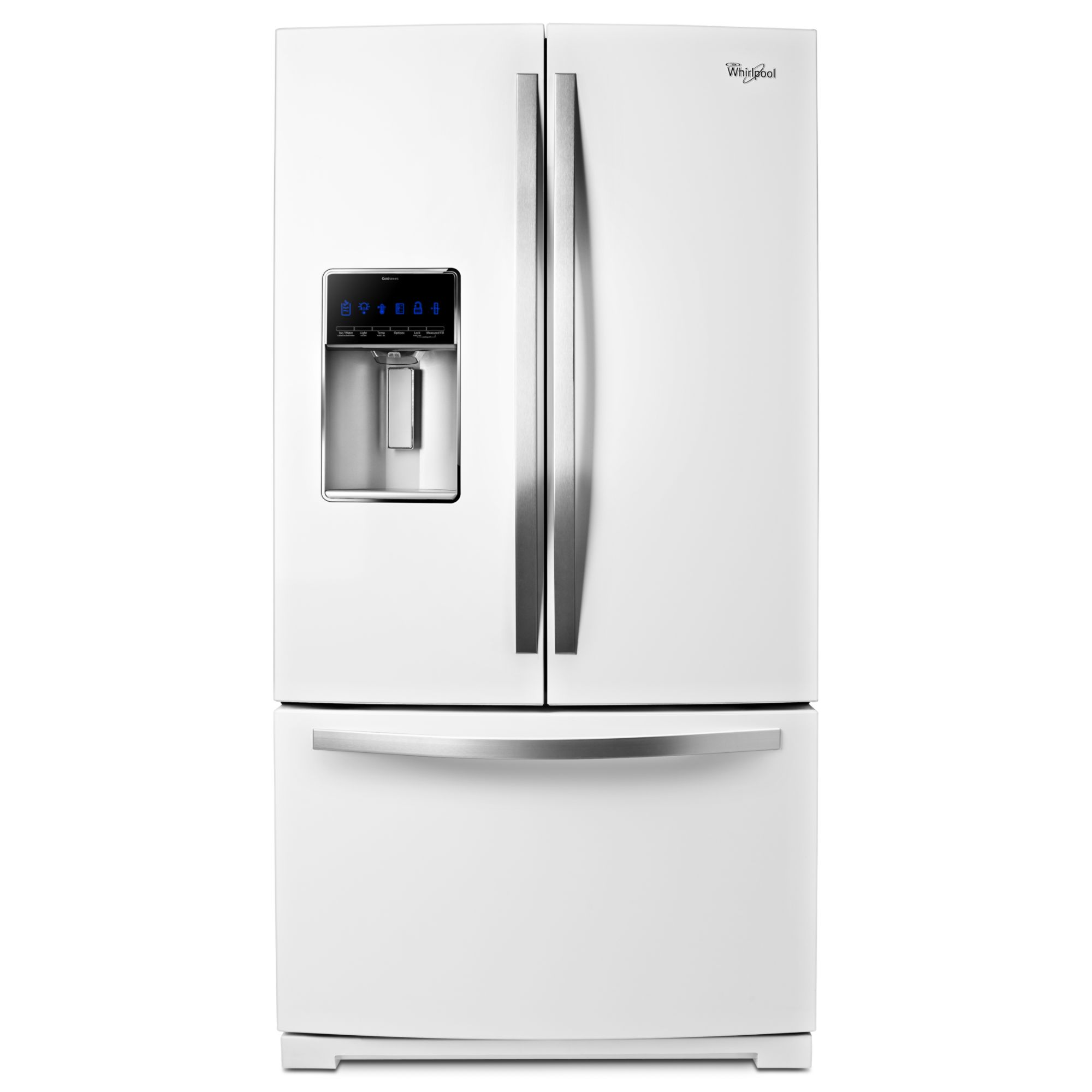 Whirlpool gold 27 cu ft french door refrigerator white ice