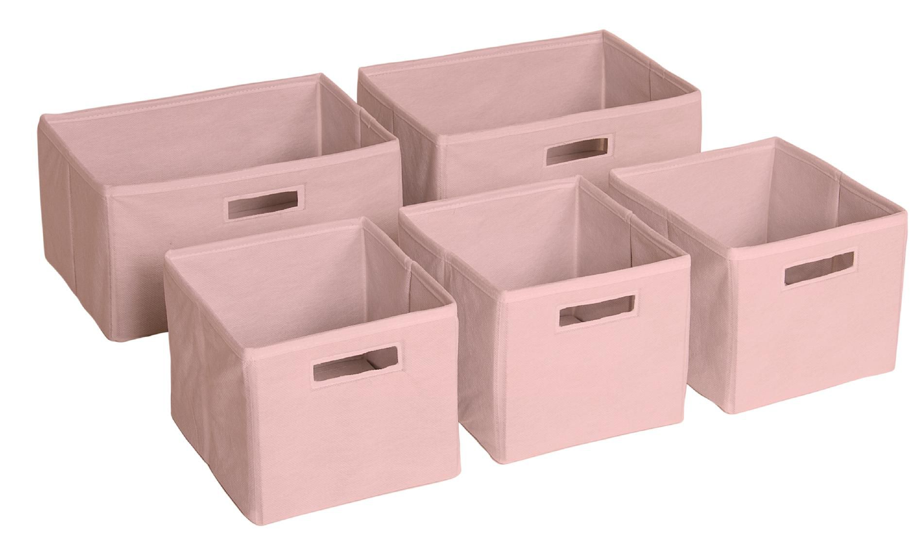 Pink Bins Guidecraft Pink Storage Bins Set Of 5