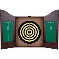 TGT King's Head Value Dartboard Cabinet Set - Dark Wood ...
