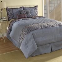 Jaclyn Smith Blue Scroll Comforter Set